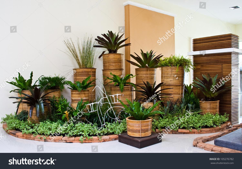Indoor Garden Room Corner Decoration Stock Photo 105276782