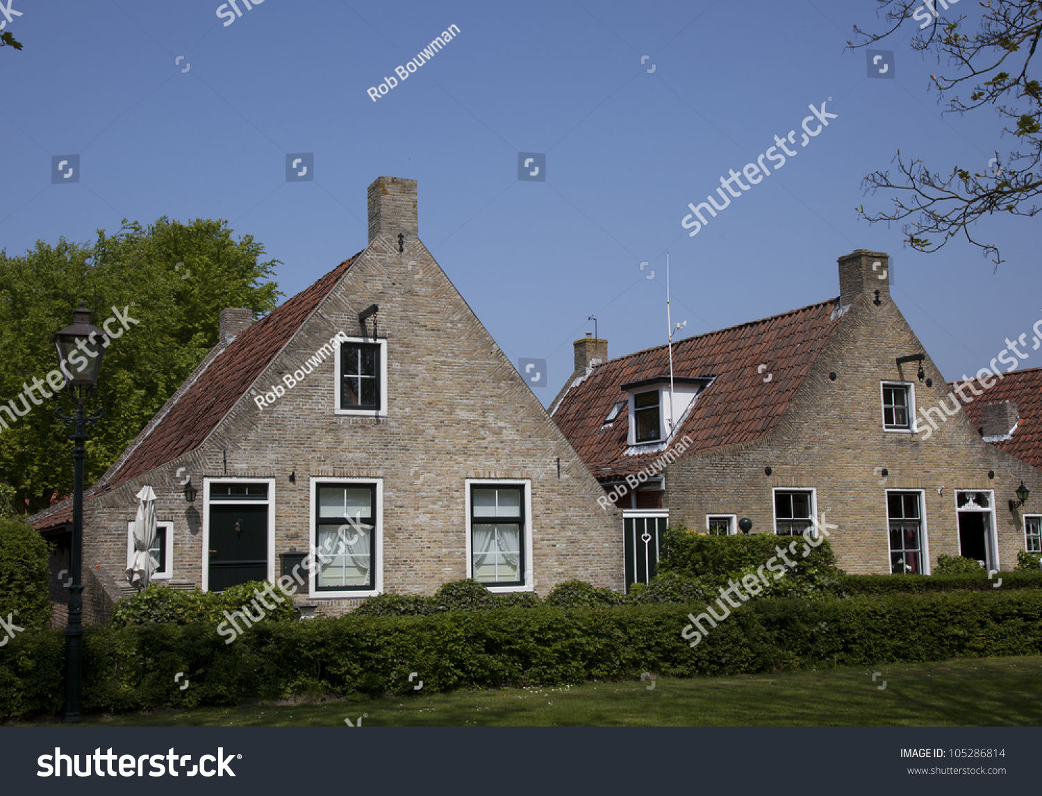 Old Dutch Houses Stock Photo Edit Now 105286814 Shutterstock