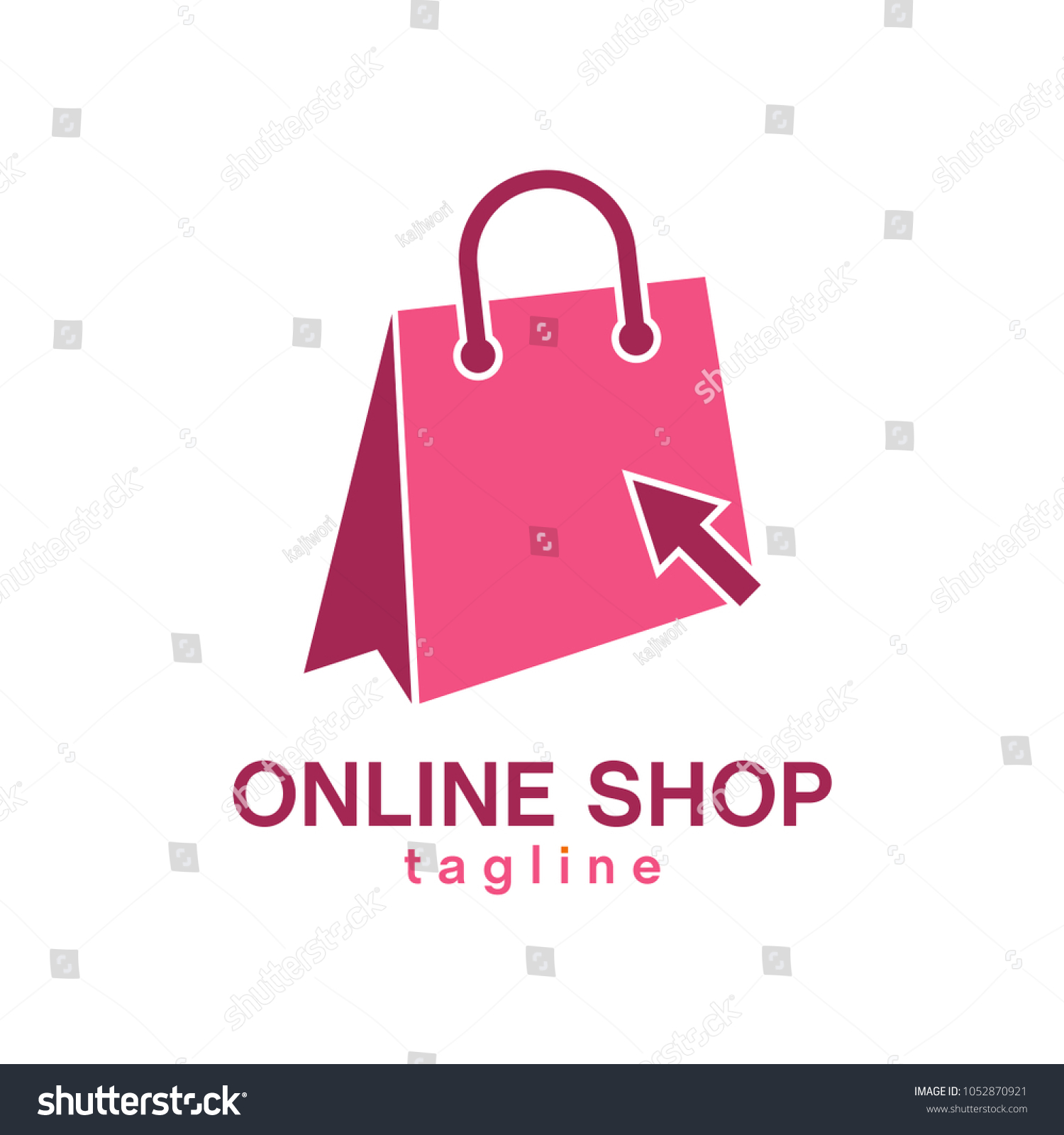 Shop Icon Online Shop Logo Template Stock Vector Royalty Free