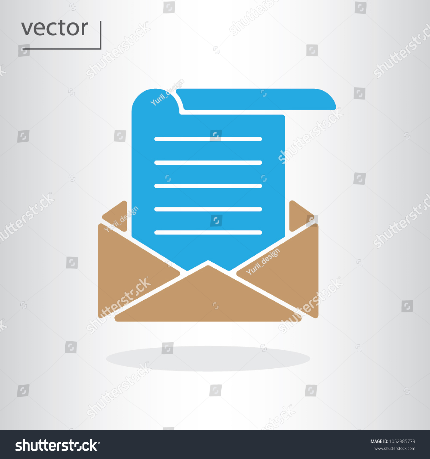 email template icon vector illustration eps stock vector (royalty