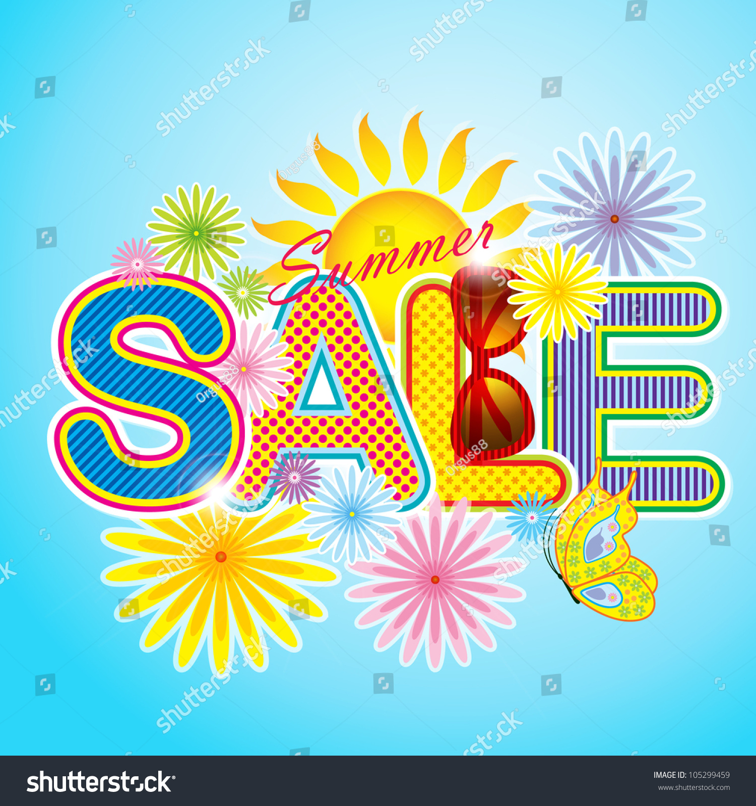 summer sale icon summer sale template stock vector