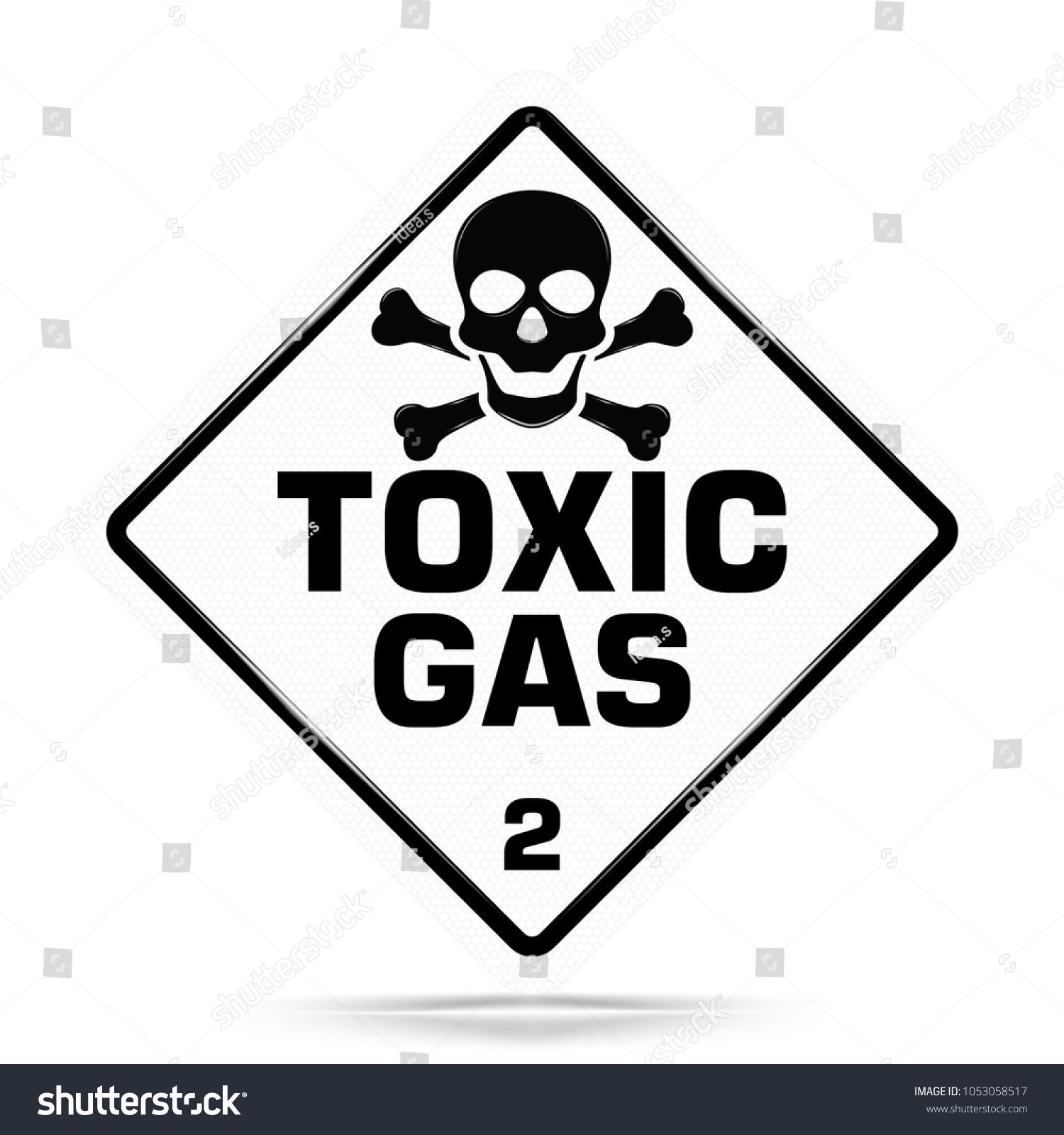 International Toxic Gas Class 2 Symbol White Stock Vector Royalty