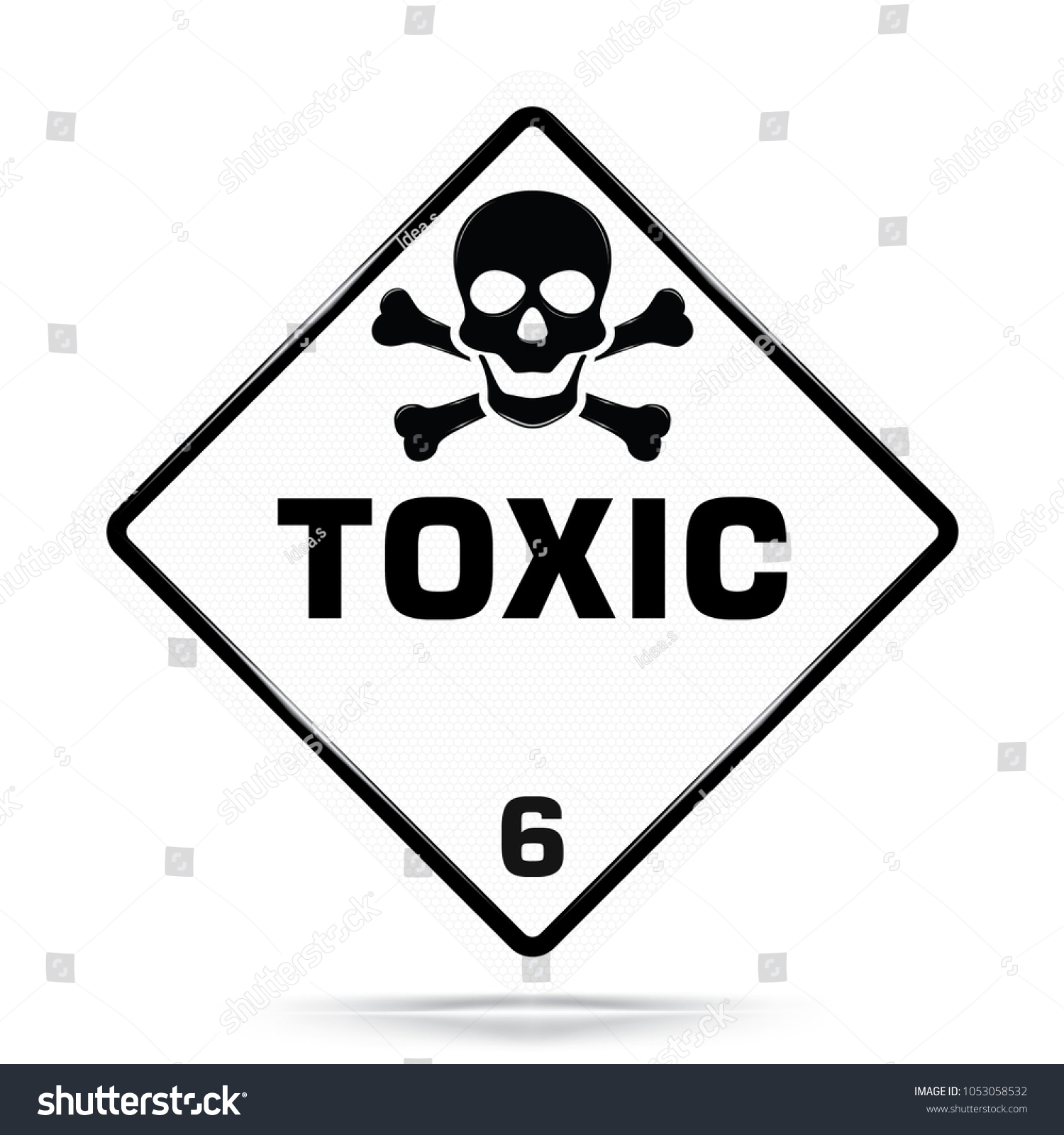 International toxic class 6 symbolwhite warning stock vector international toxic class 6 symbolwhite warning dangerous icon on white background attracting attention biocorpaavc Images