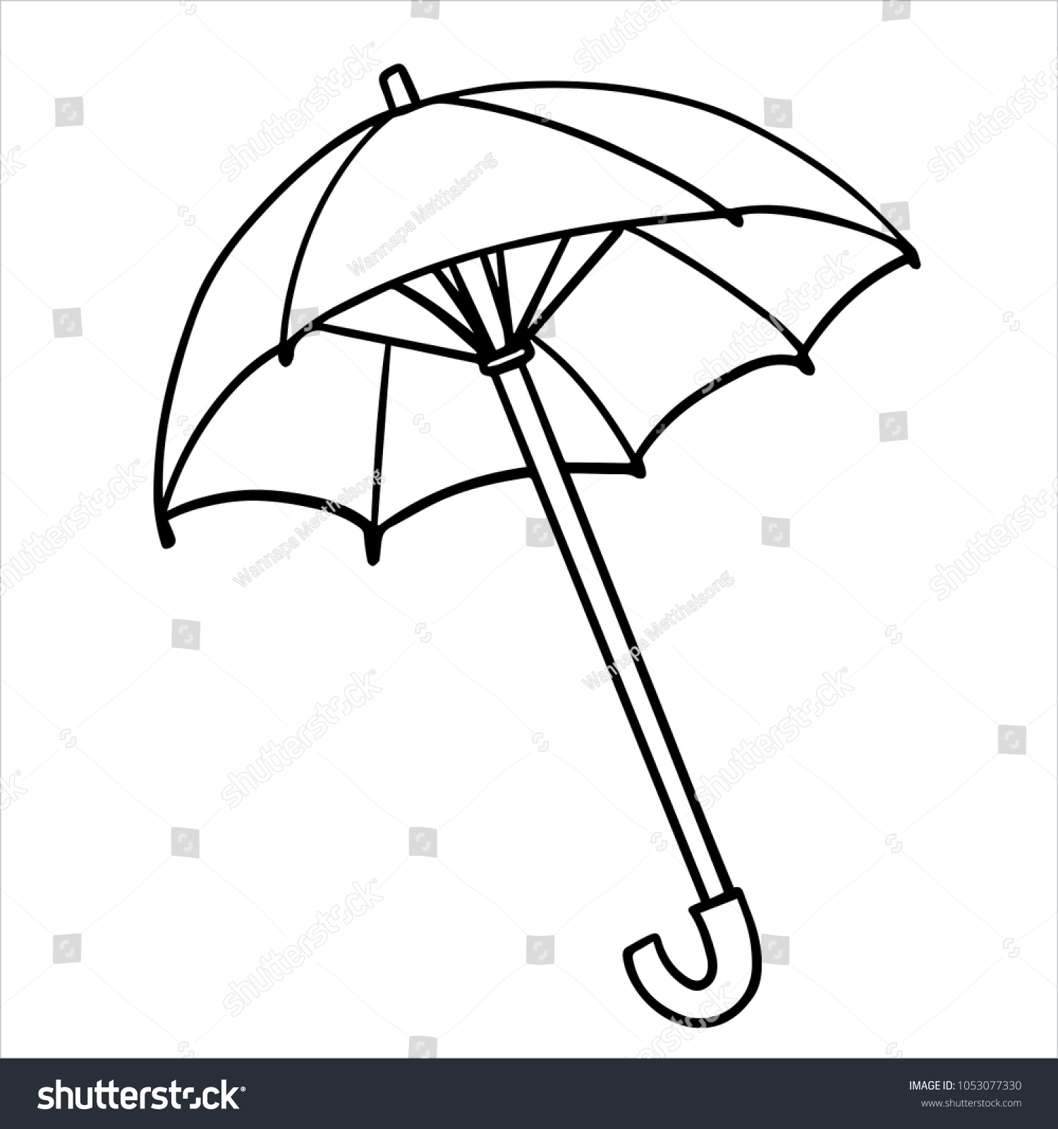 Kids Coloring Pages Umbrella Stock Vector (Royalty Free) 1053077330 ...