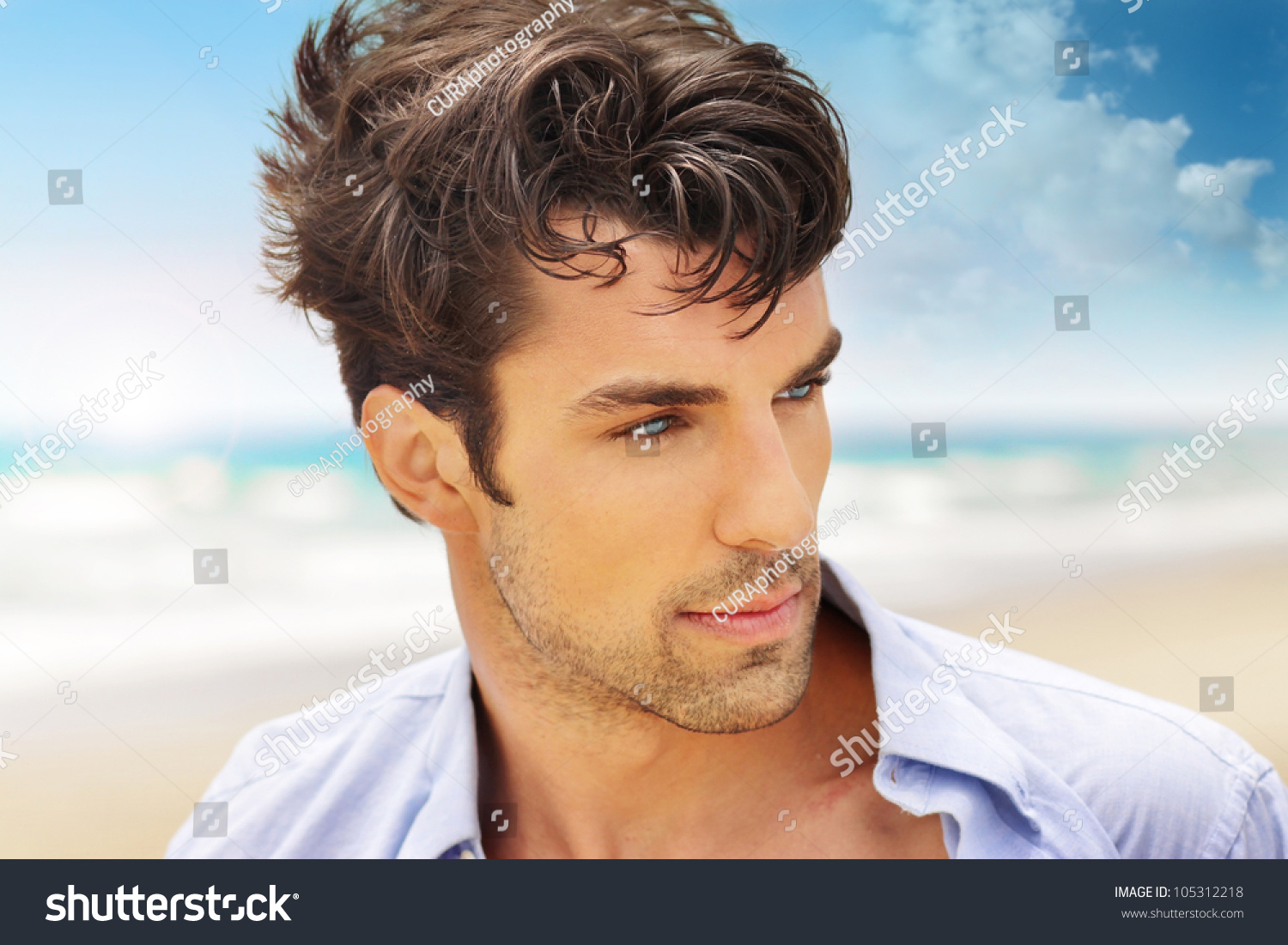 Outdoor Portrait Of A Good Looking Young Man Stock Photo ...  Good Looking Young Man