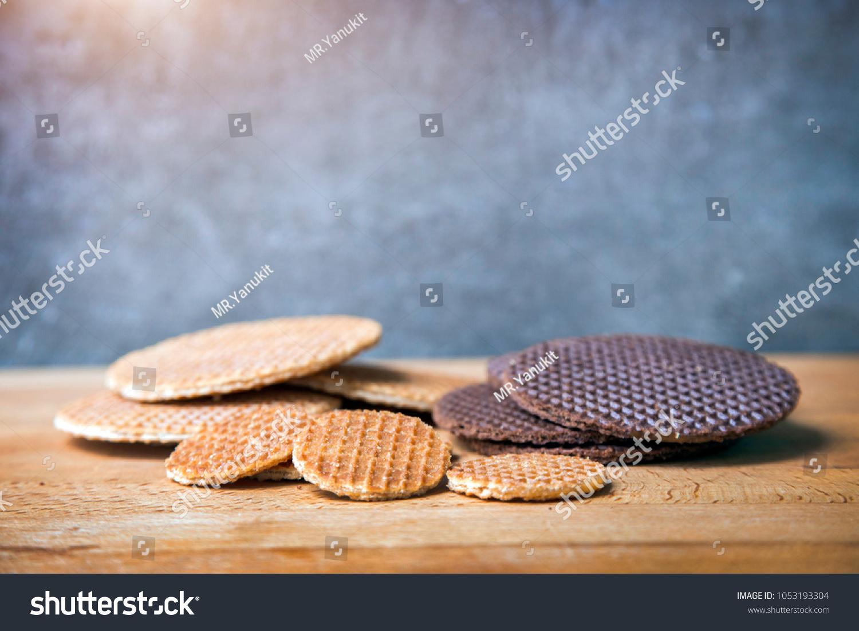 Original Dutch Dessert Call Strooopwafels On Stock Photo (Royalty ...