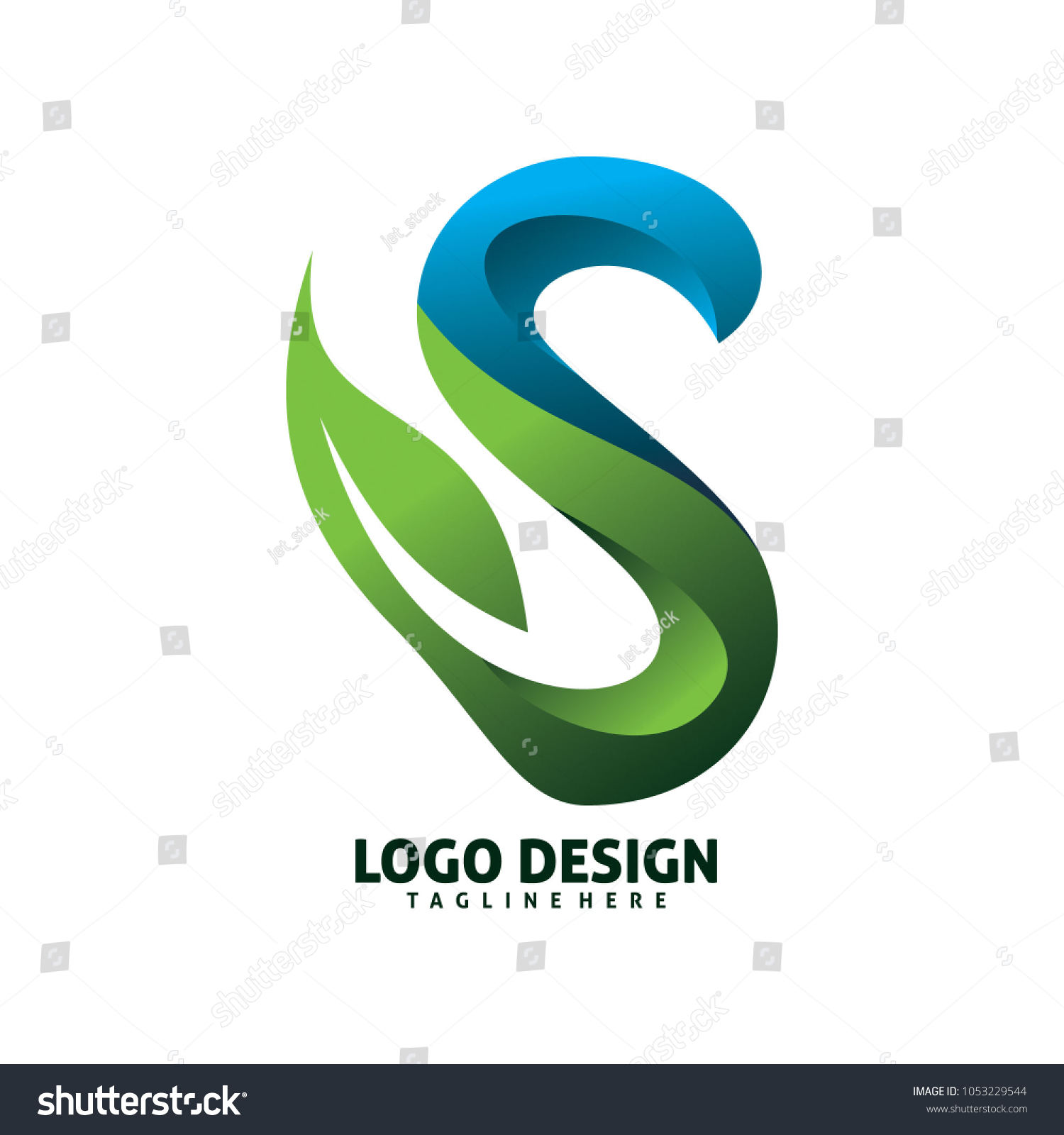 Colorful 3d Letter Font S Leaf Stock Photo Photo Vector