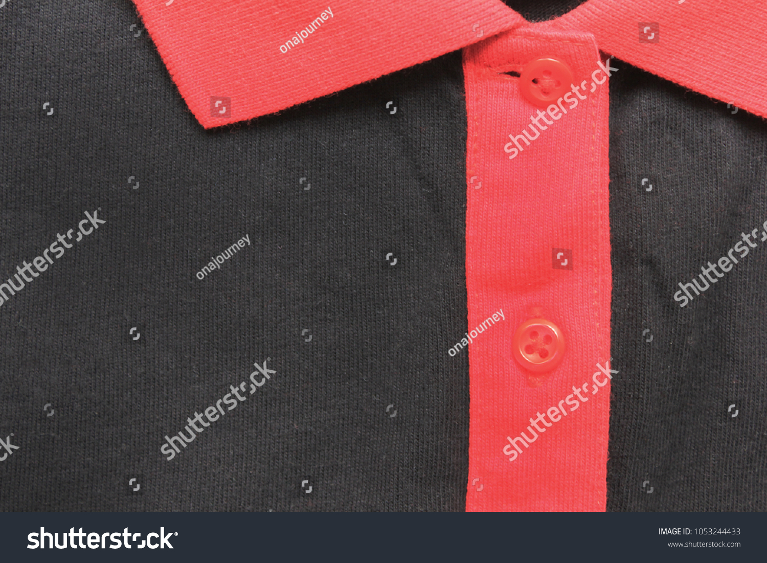 T Shirt Collar Neck Red Black Color Stock Photo Edit Now