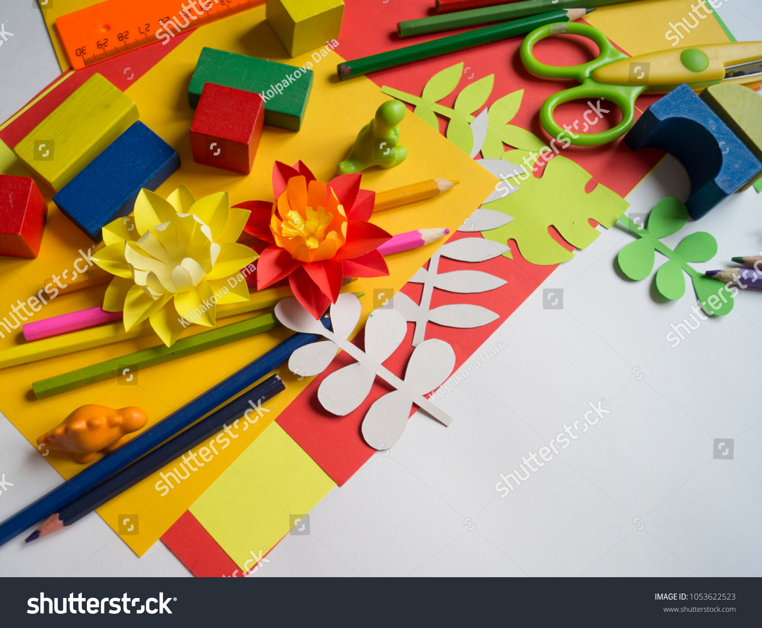 Master Class Create Flower Paper Childrens Creativity Favorite Stock