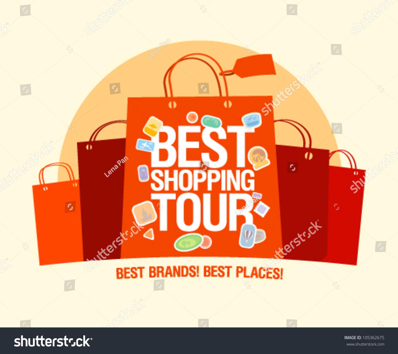 Best Shopping Tour Design Template Paper Vector 105362675 – Paper Design Template