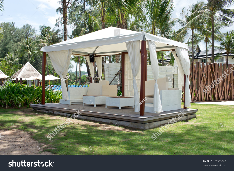 Luxury white tent in the garden & Luxury White Tent Garden Stock Photo 105363566 - Shutterstock