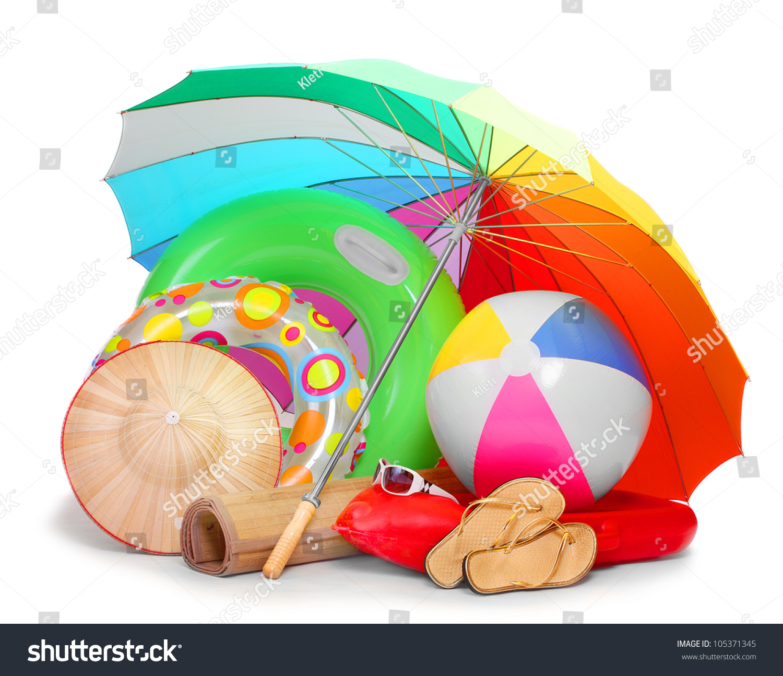 Uv Protection Equipment Beach Umbrella Floating Stock