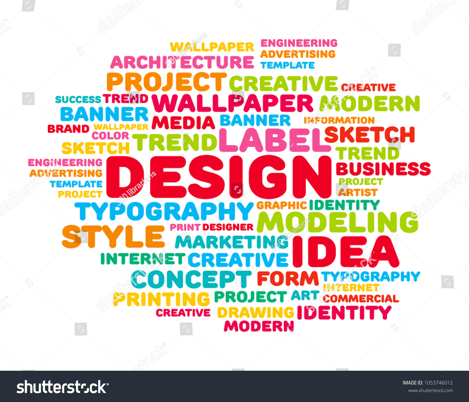 design design word cloud concept vector stock vector royalty free
