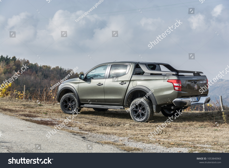 Murazzano Italy 9 11 2017 New Stock Photo Edit Now 1053840965 Fiat Pickup Truck Fullback Cross Model
