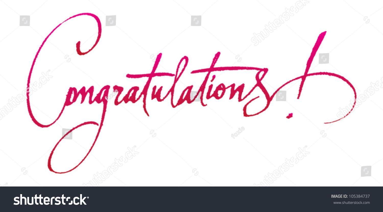 Congratulations original handwritten calligraphy your logo