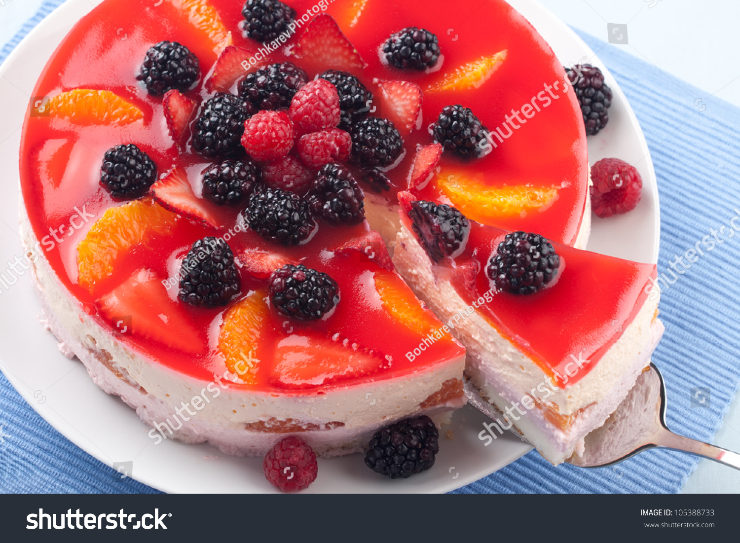 Cake With Fruit Yogurt : Fruit Yogurt Cake Cream Yogurt Based Stock Photo 105388733 ...