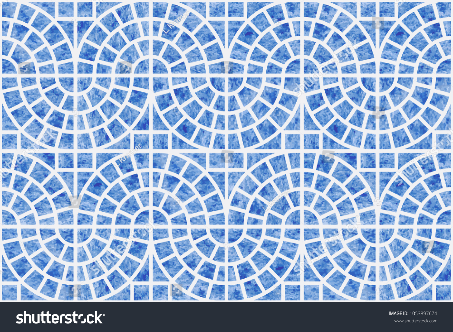 Abstract Vector Seamless Geometrical Pattern Blue Stock Photo (Photo ...