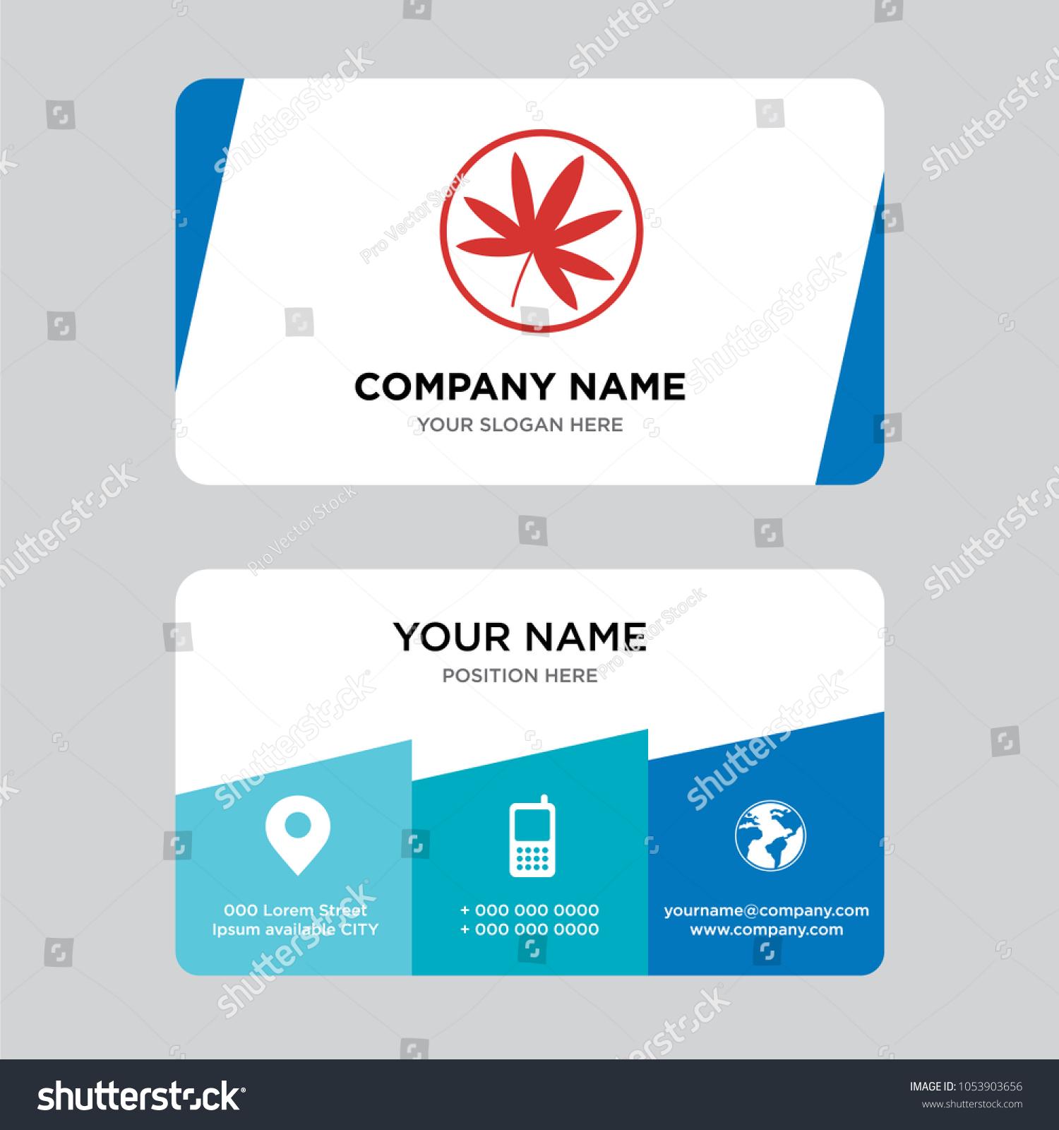 Marijuana Business Card Design Template Visiting Stock Vector (2018 ...