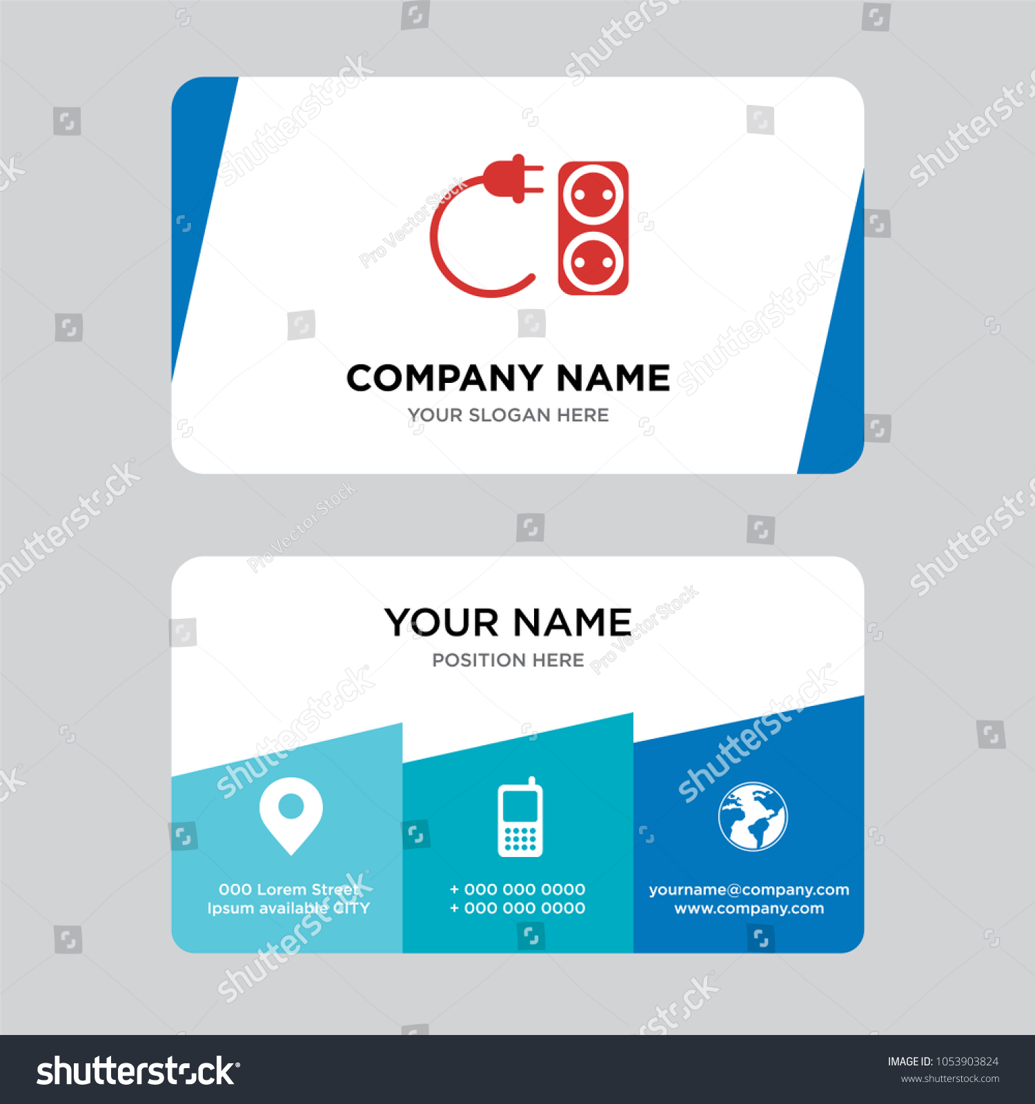 Electrical contractor business card design template stock vector electrical contractor business card design template visiting for your company modern creative and clean colourmoves
