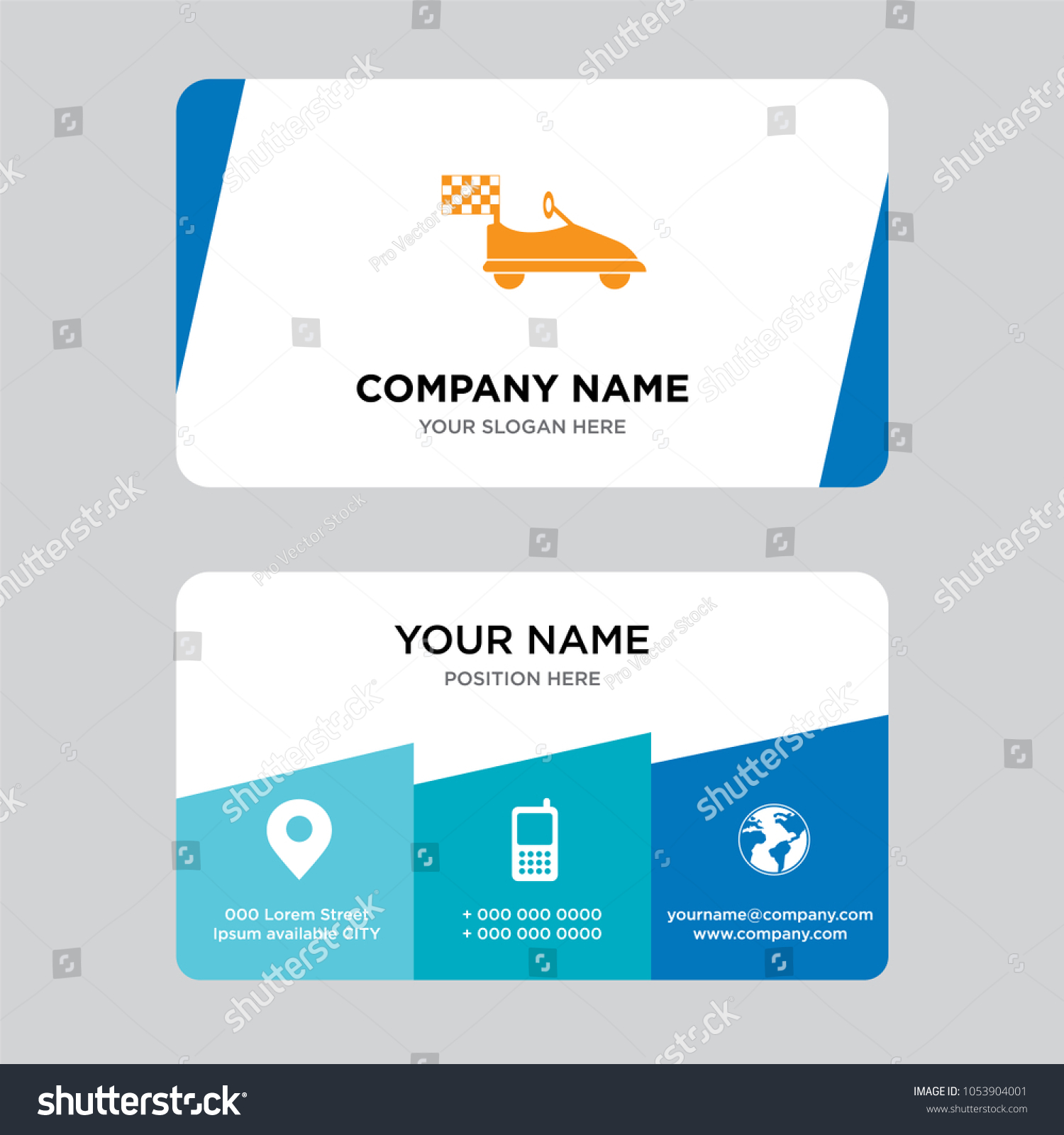 Kart Business Card Design Template Visiting Stock Vector 1053904001 ...