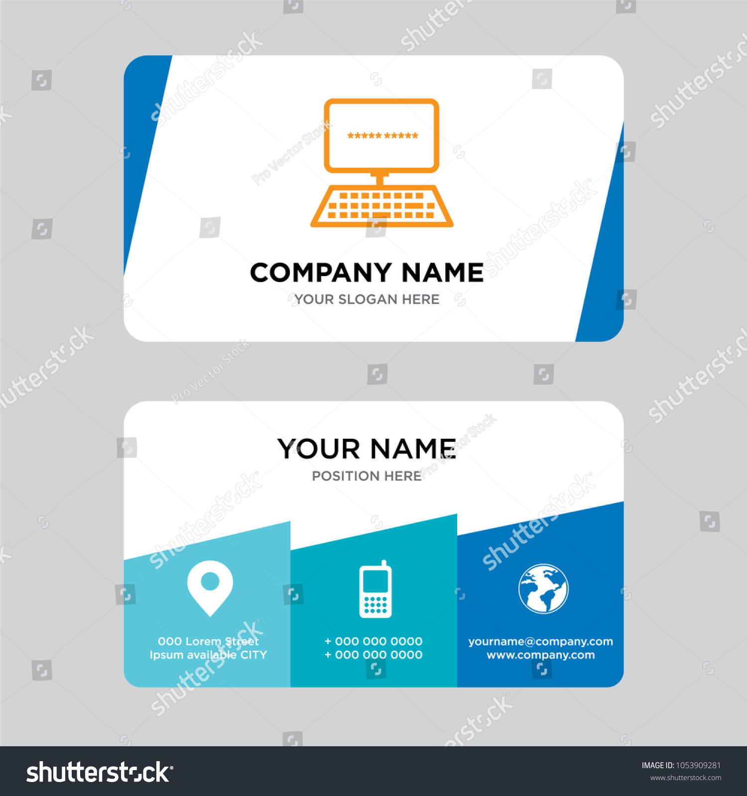 Data Entry Business Card Design Template Stock Vector HD (Royalty ...