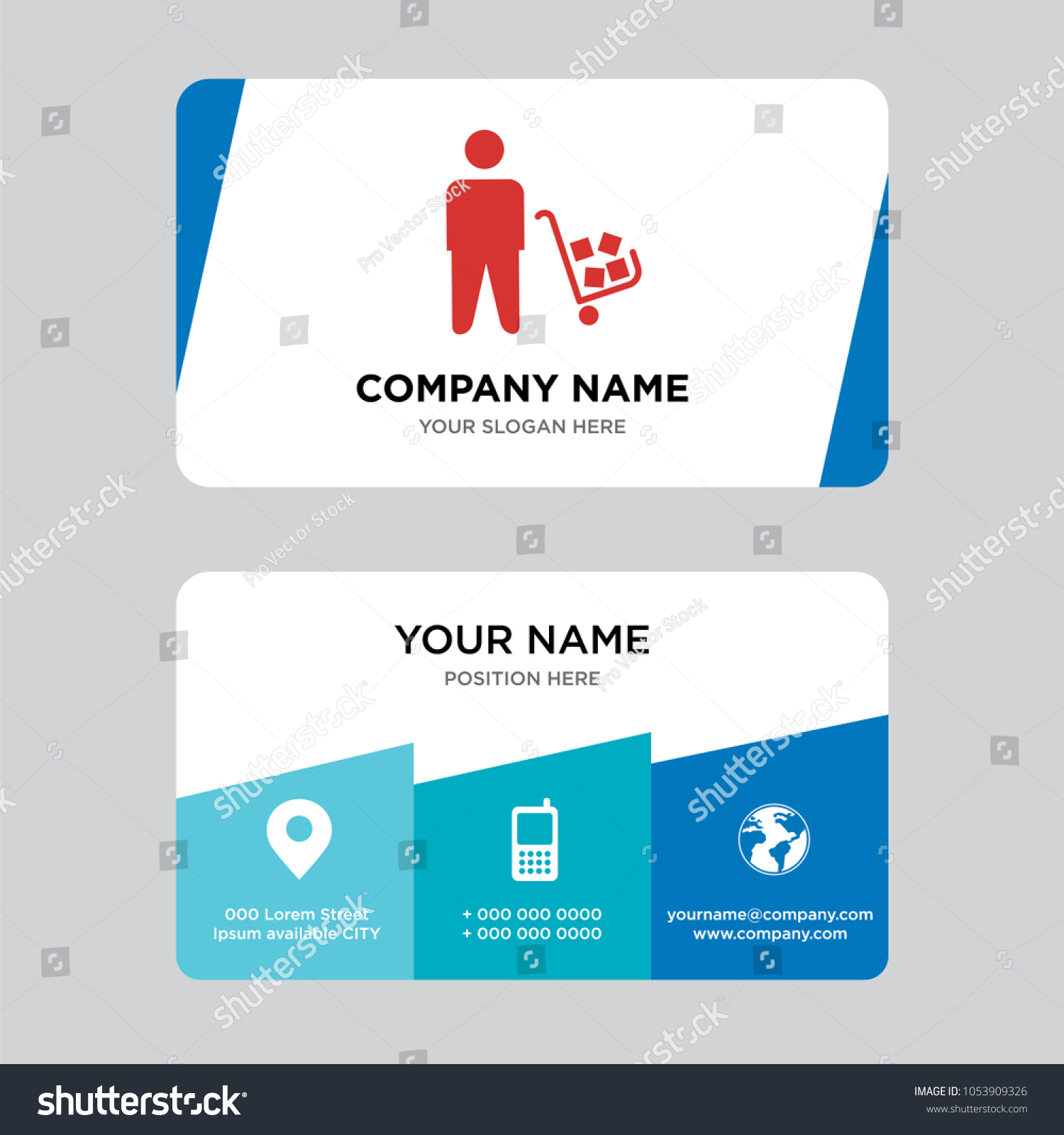 Supplier Business Card Design Template Visiting Stock Vector ...