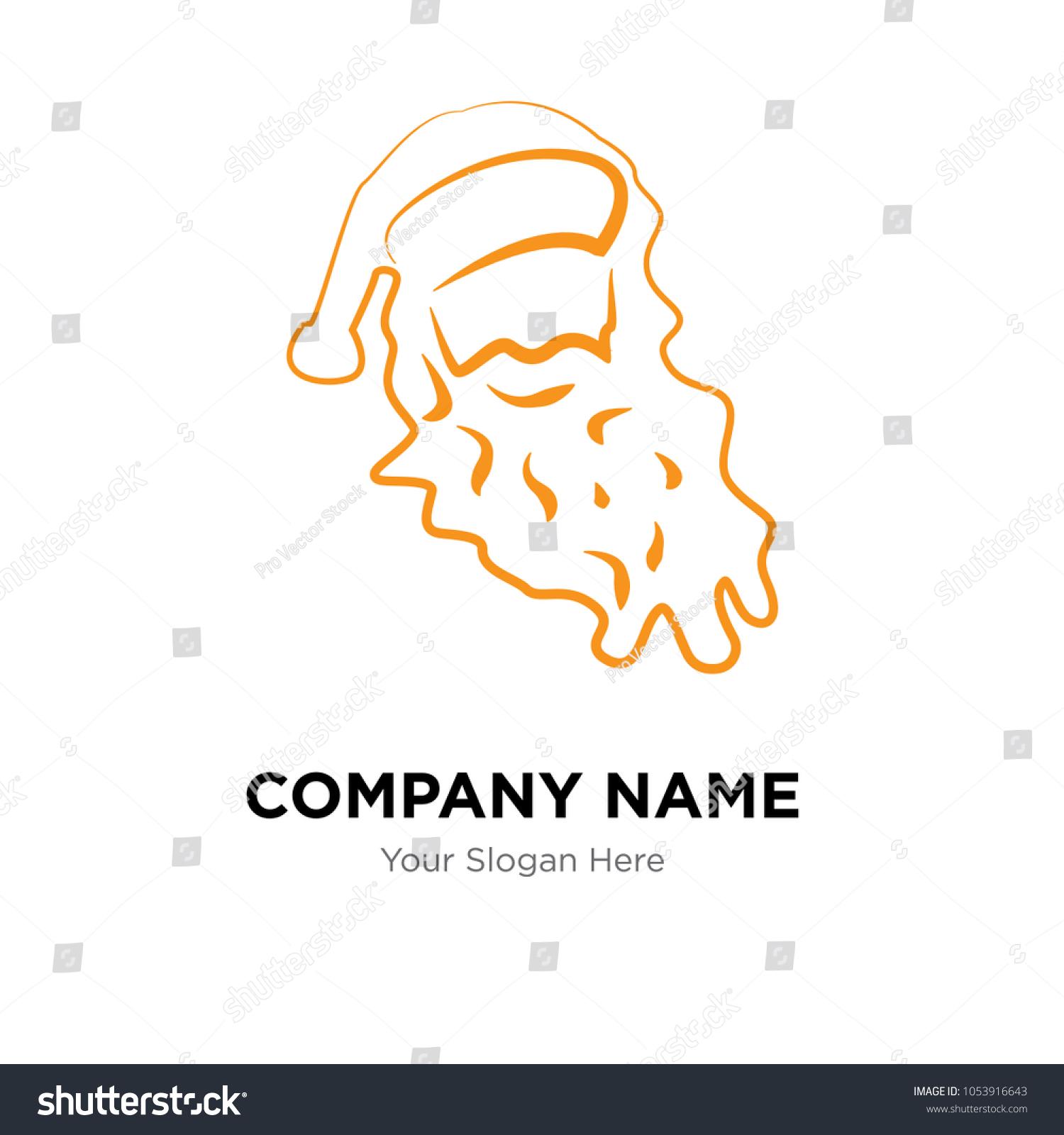 Santa Face Company Logo Design Template Stock Vector 1053916643 ...