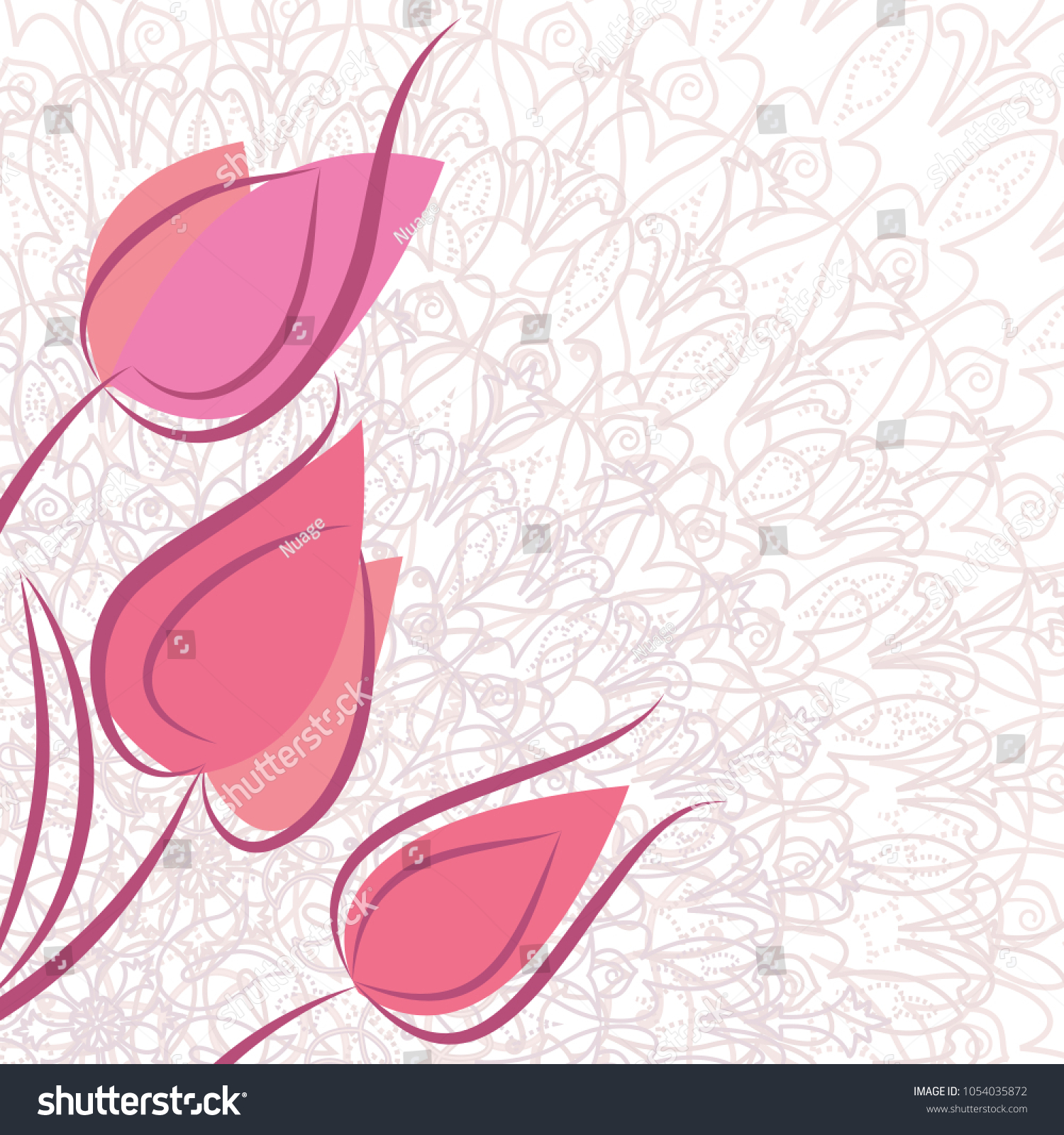 Spring Greeting Card Template Space Text Stock Illustration