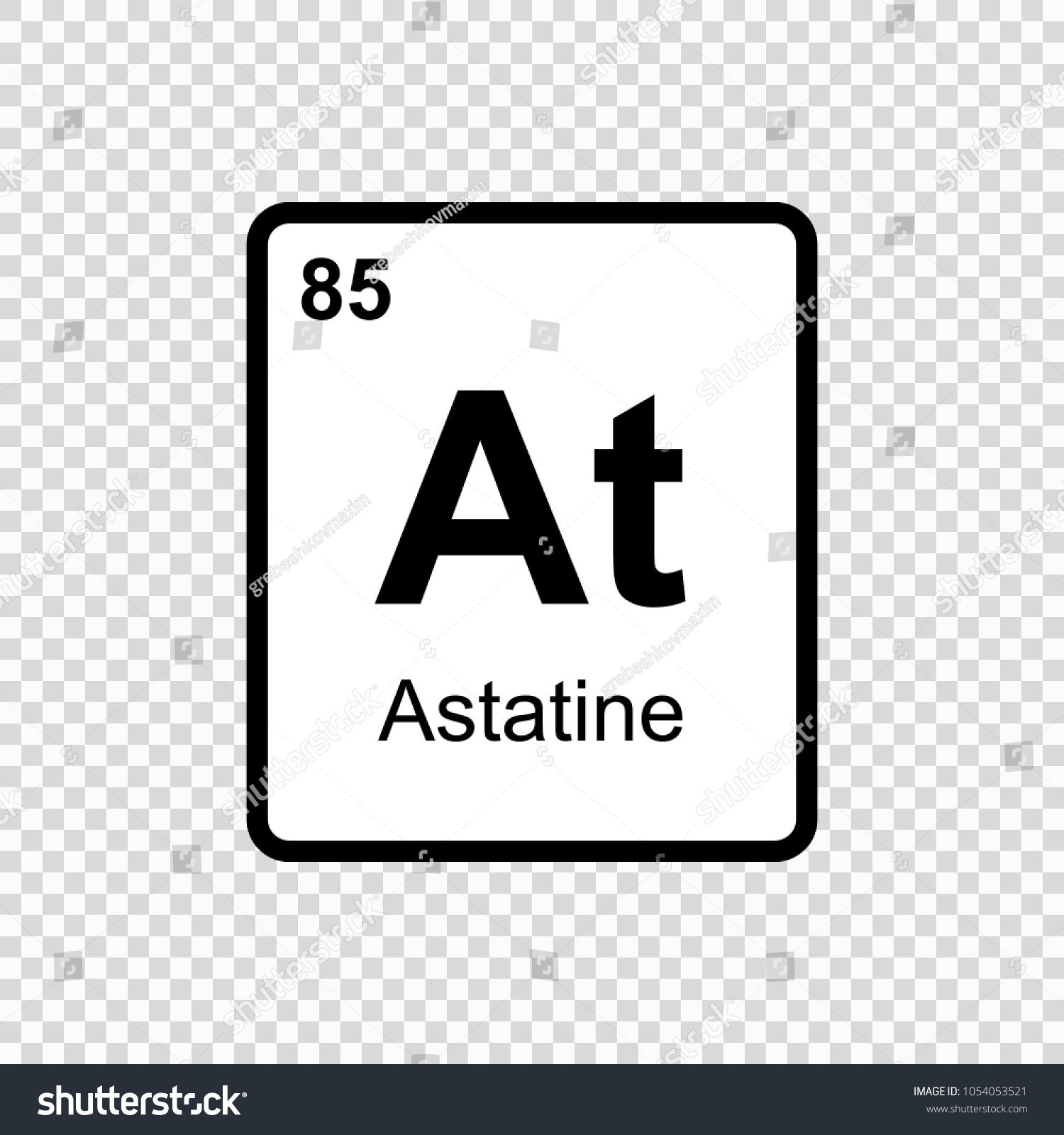 Astatine chemical element sign atomic number stock vector hd astatine chemical element sign with atomic number chemical element of periodic table urtaz Image collections