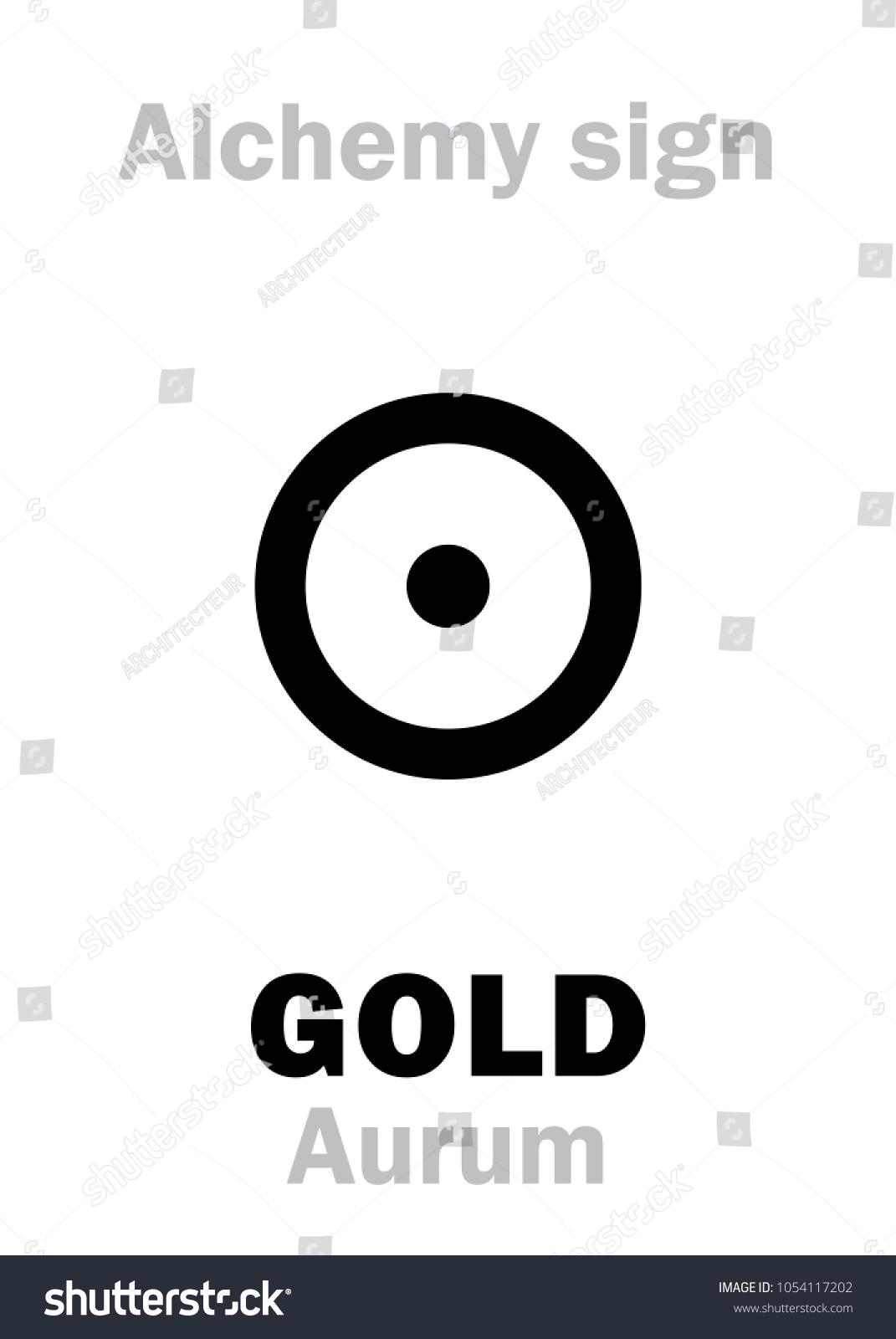 Alchemy alphabet gold aurum sol metal stock vector 1054117202 alchemy alphabet gold aurum sol metal of the sun precious biocorpaavc Gallery