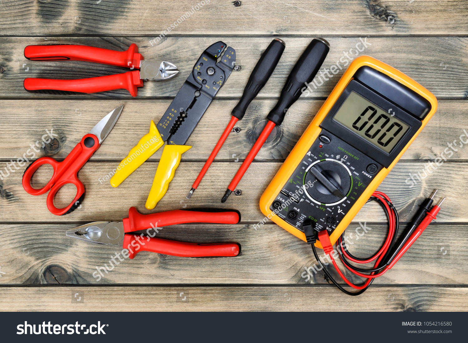 Close Work Tools Residential Electrical Installation Stock Photo ...
