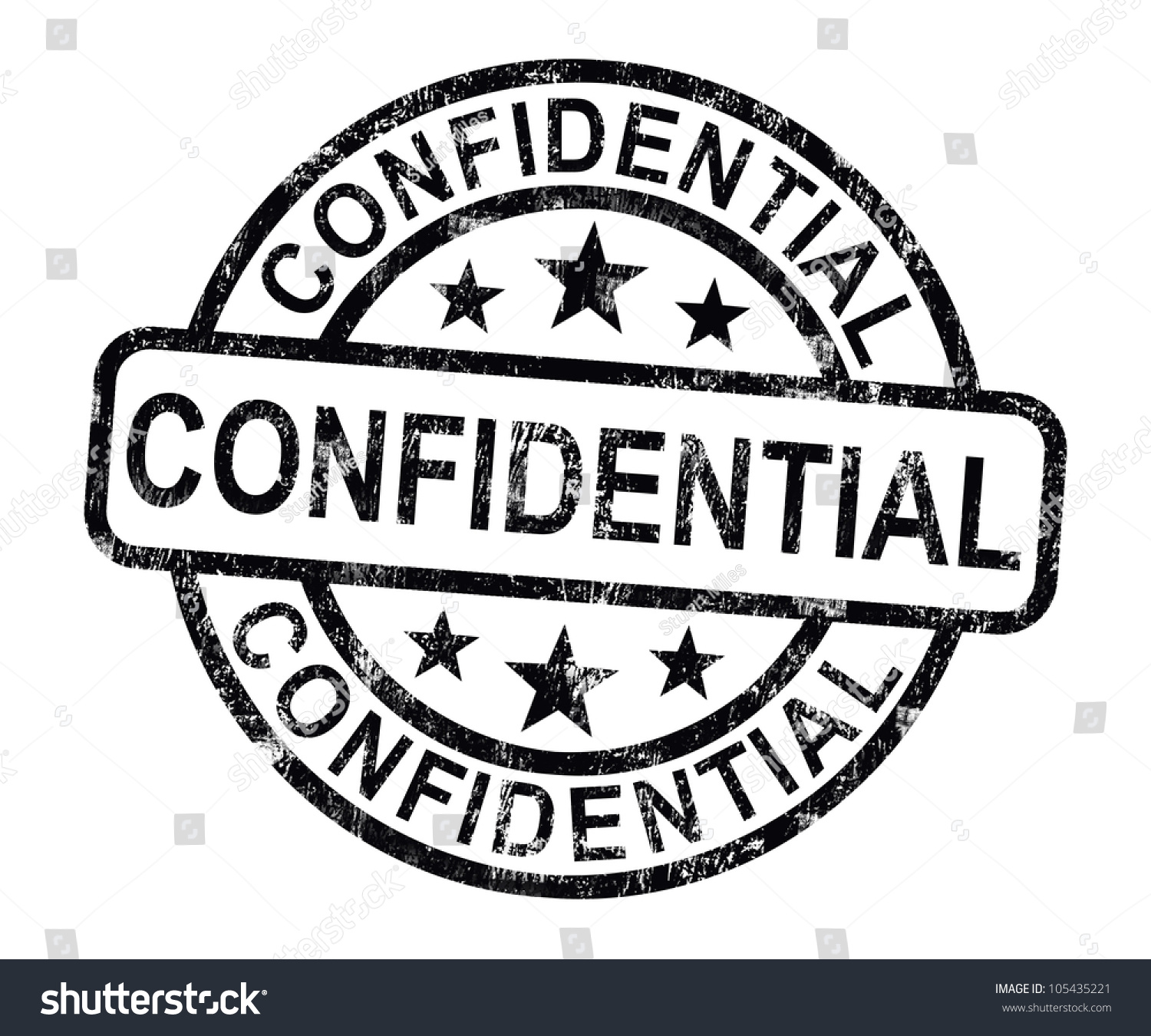 Confidential Stamp Showing Private Correspondence Or
