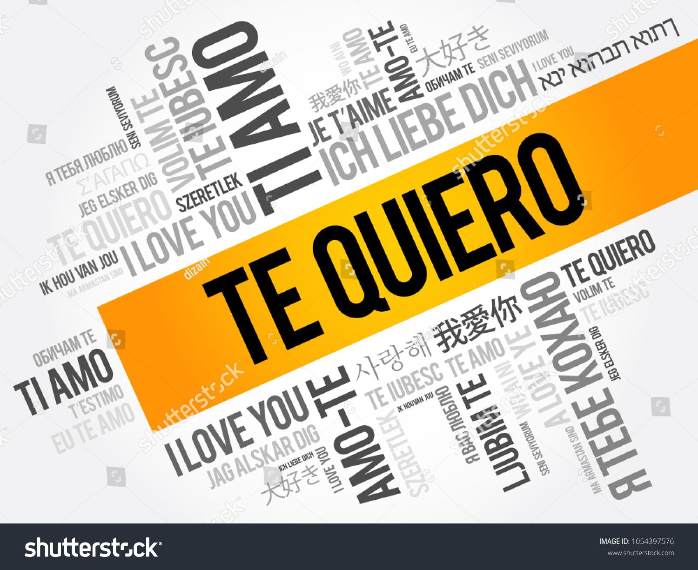 te quiero i love you spanish stock vector 1054397576 shutterstock