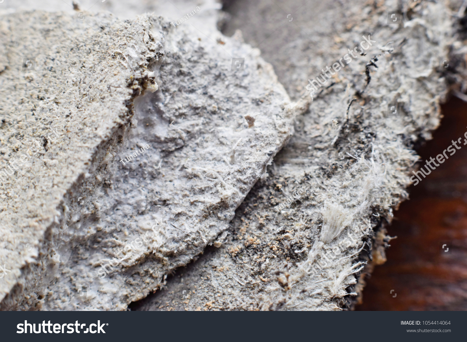 Asbestos Fibers In Lungs : Detailed photography roof covering material asbestos stock photo