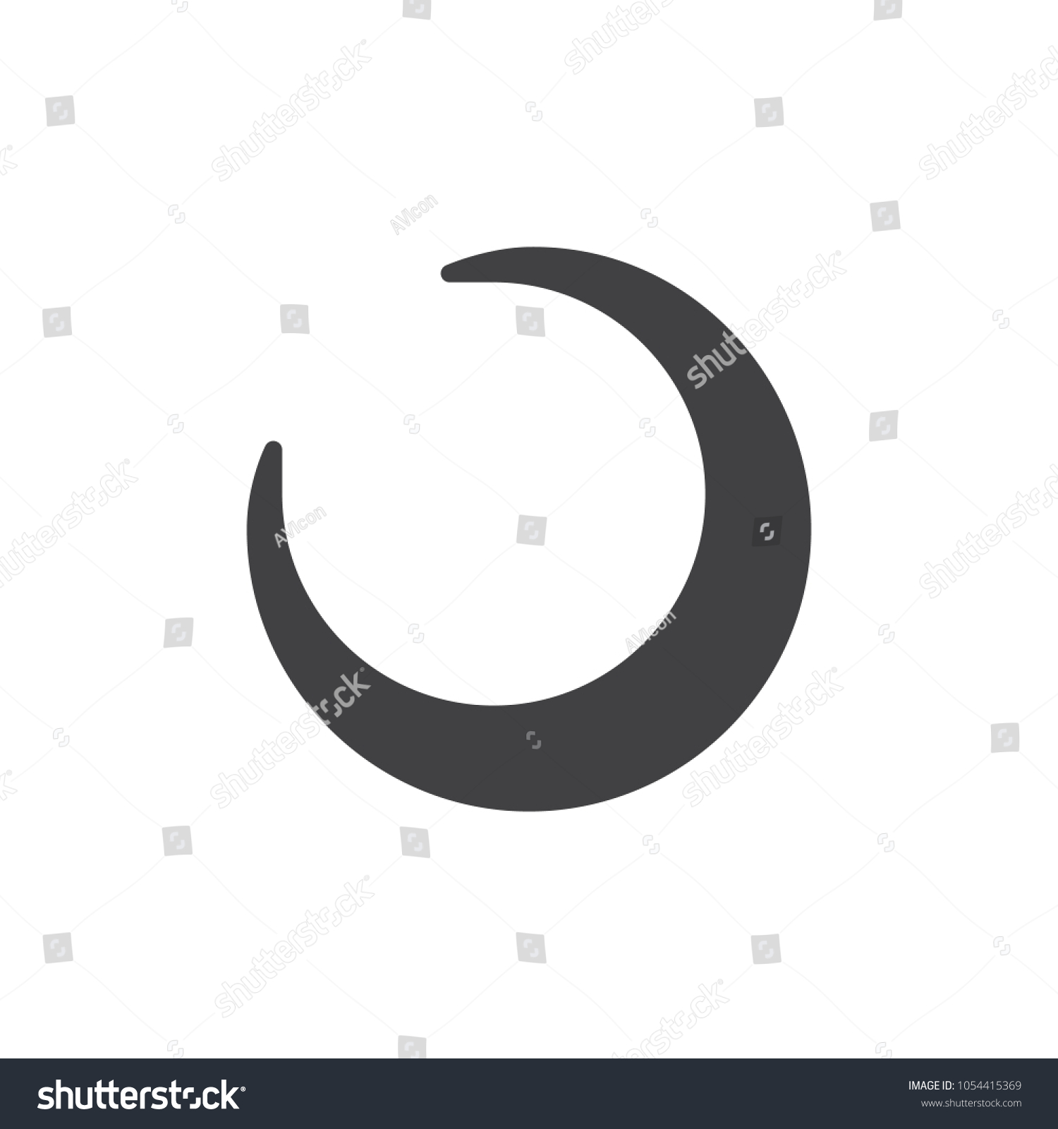 Crescent moon icon vector filled flat stock vector 1054415369 crescent moon icon vector filled flat sign solid pictogram isolated on white astrology buycottarizona Image collections