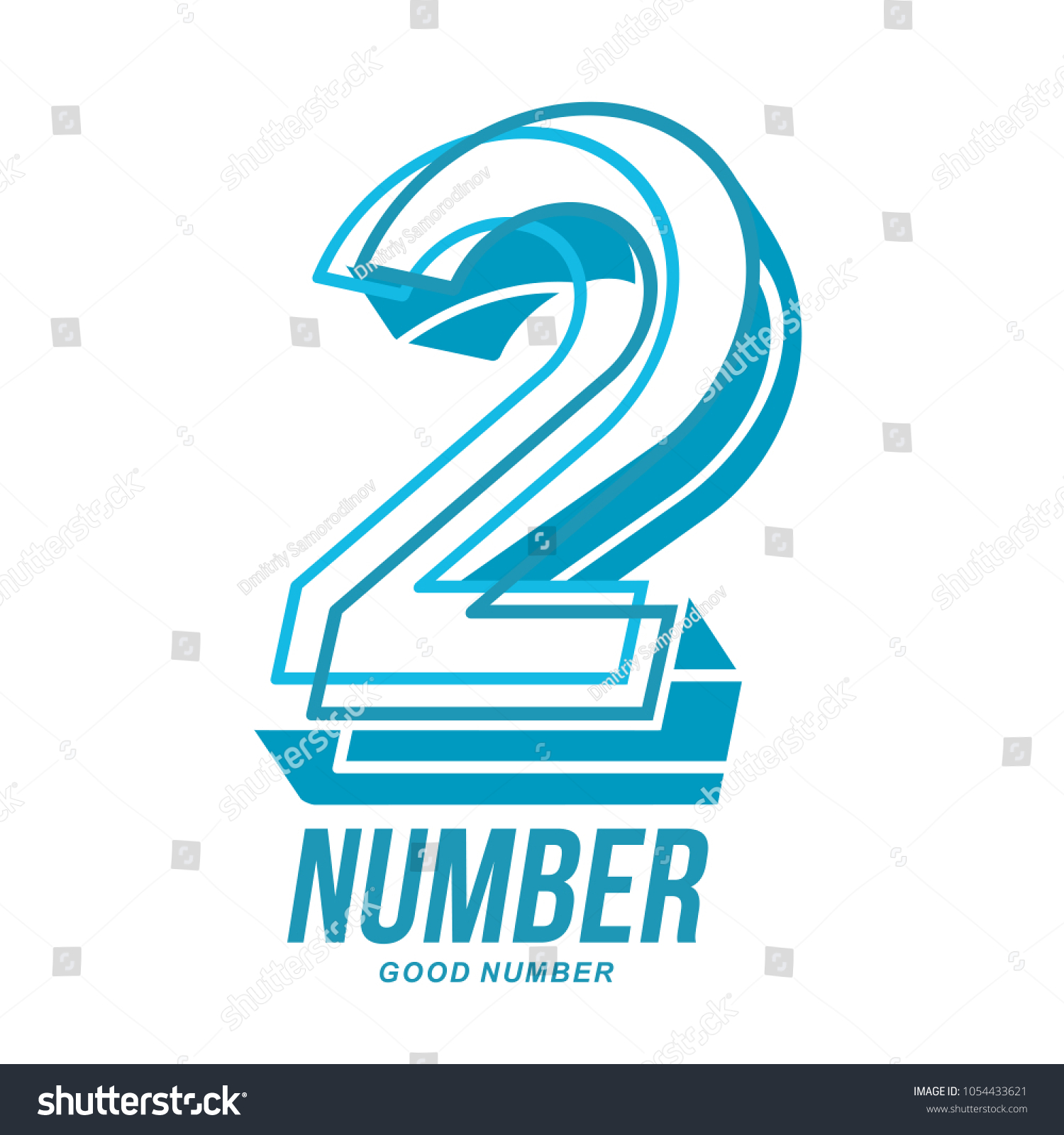 Number Two Logo Templates Full Colors Stock Illustration 1054433621 ...