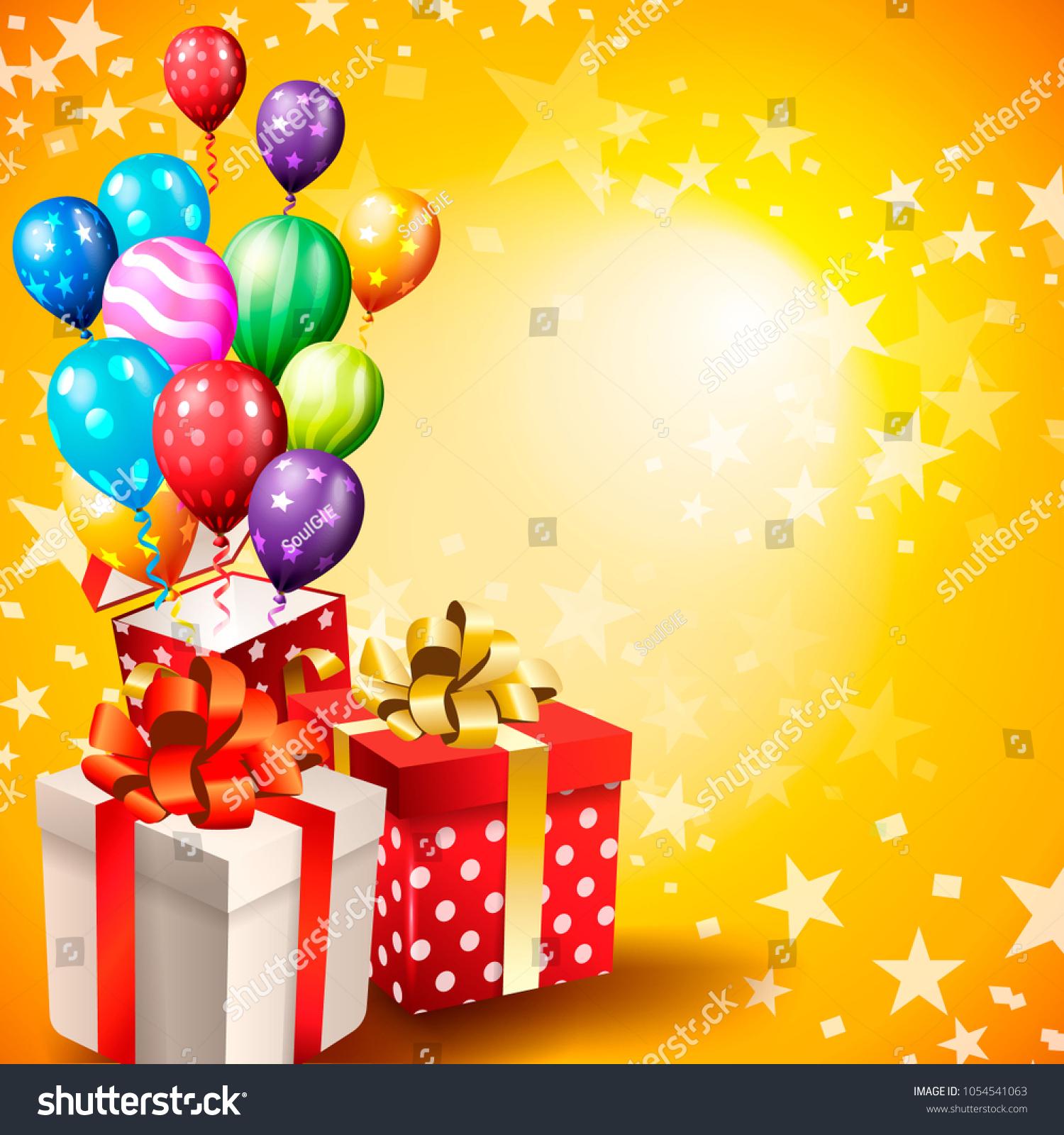 Birthday Invitation Card Birthday Background Stock Vector (Royalty