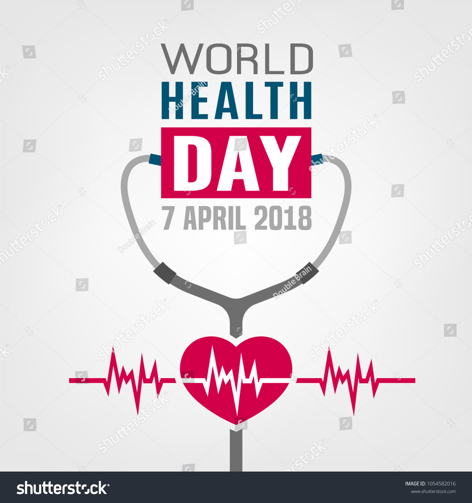 World Health Day Concept 7 April 2018 Medicine And Healthcare Image Editable Vector