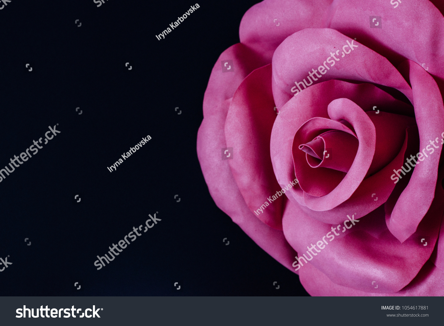 Giant Pink Handmade Foamiran Flower On Stock Photo Edit Now