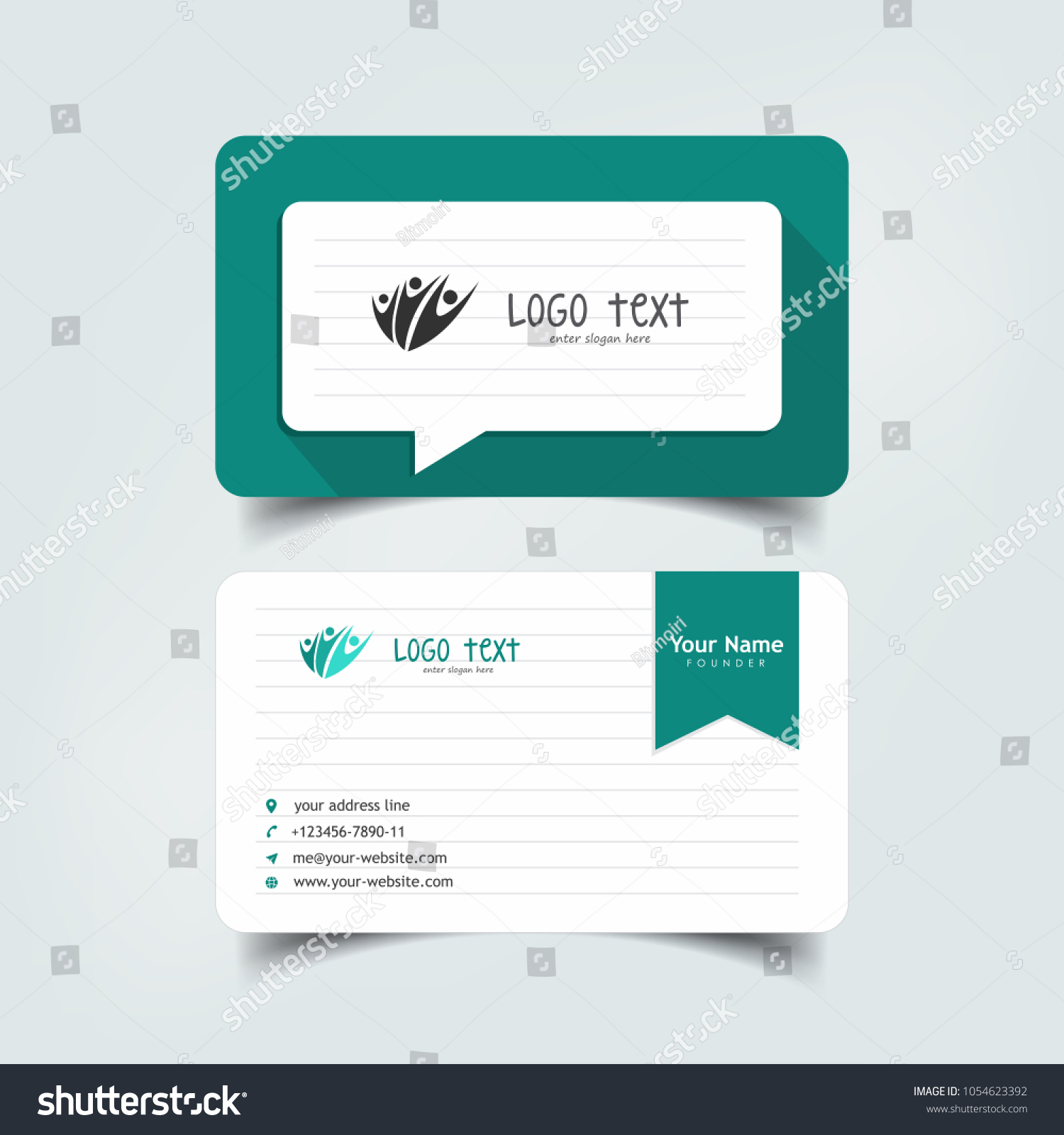 Simple elegant business card templates paper stock vector royalty simple elegant business card templates with paper buzz styles identity card templates fbccfo Gallery