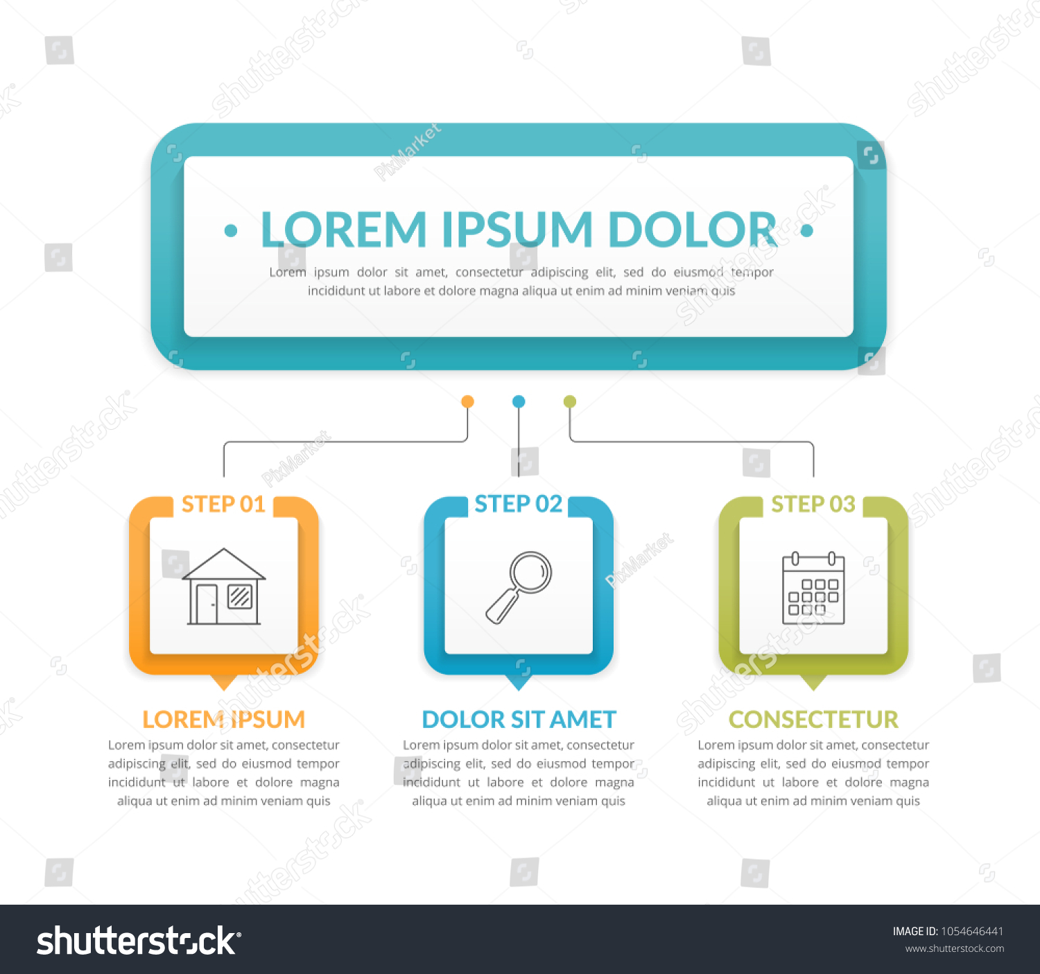 Infographic template main idea 3 steps stock vector 1054646441 infographic template with main idea and 3 steps or options workflow process chart nvjuhfo Choice Image