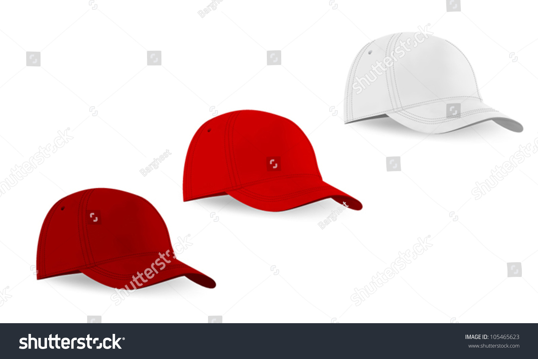blank baseball hat template stock vector royalty free 105465623