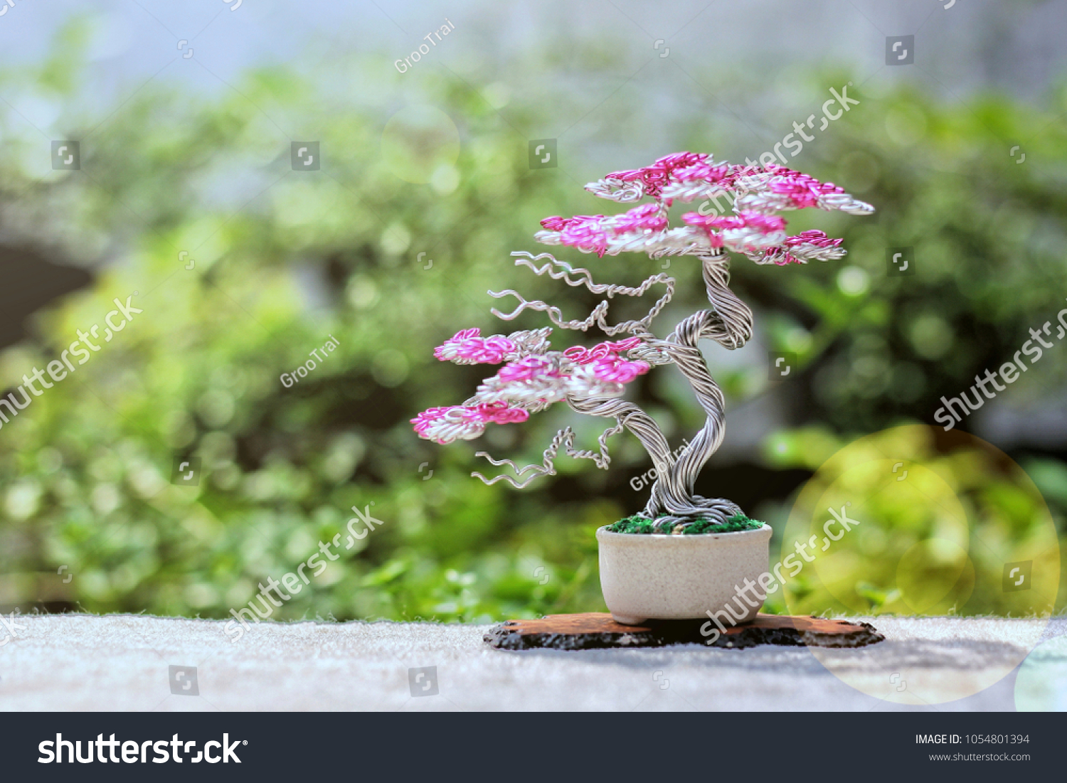 Recycled Aluminium Bonsai Trees By Privatisation Stock Photo Edit Wiring For Beginners To Comes From Bending Aluminum Wires Used