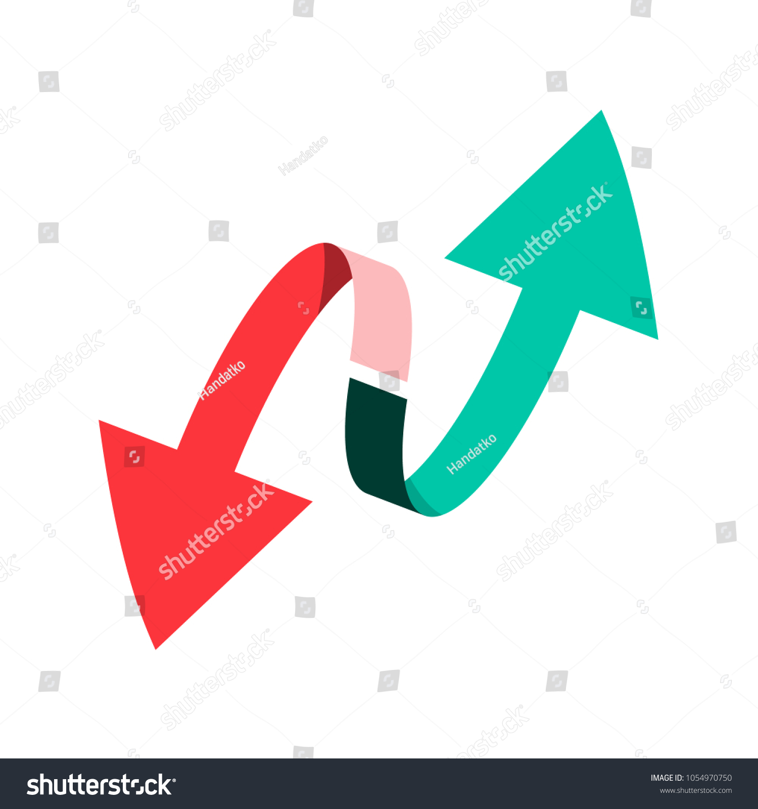 Double Arrow Down Arrows Vector Symbol Stock Vector Royalty Free
