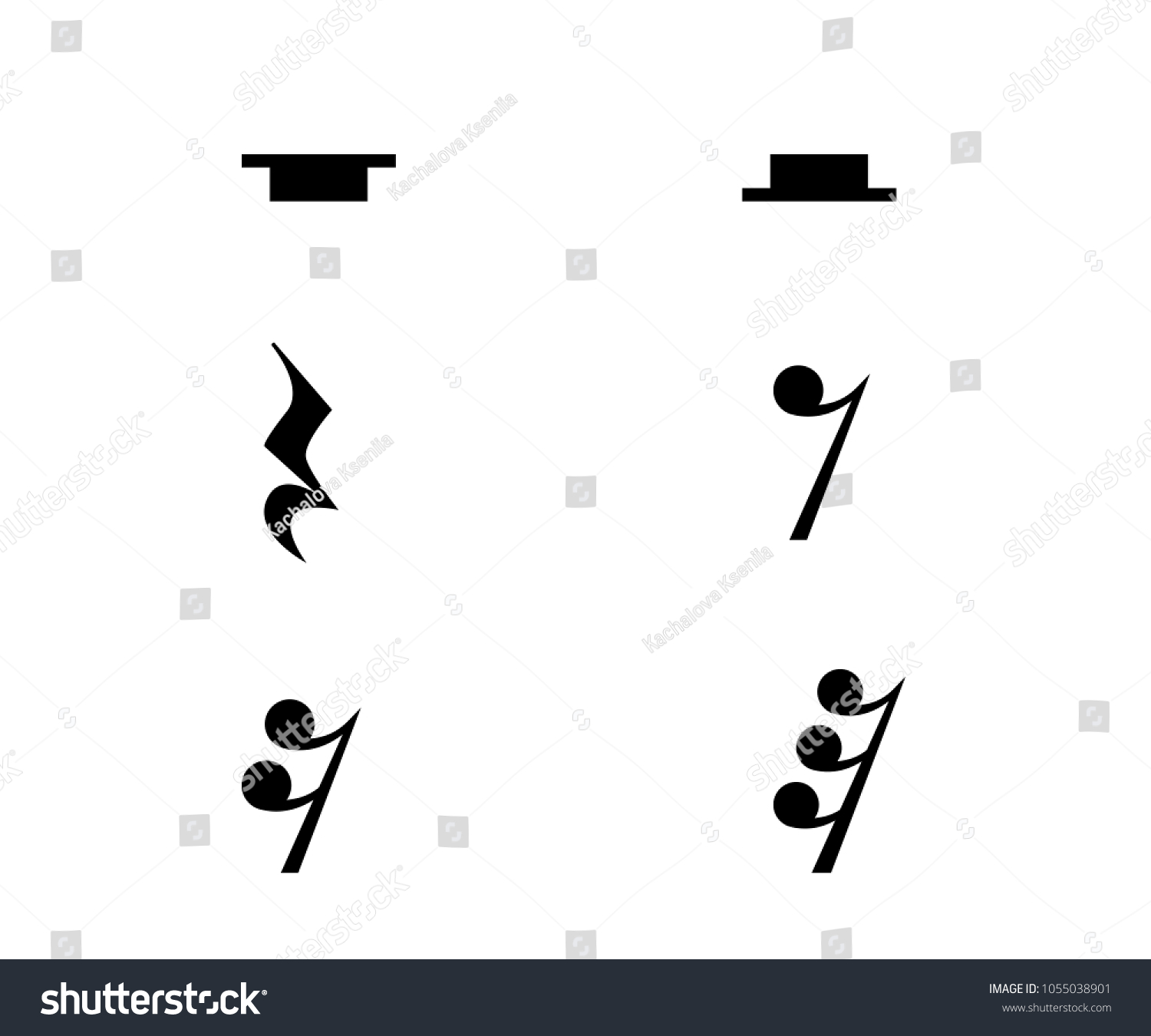 Vector Monochrome Illustration Music Theme Collection Stock Vector
