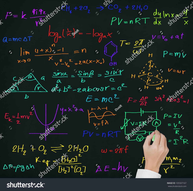 Teacher Hand Writing High School Maths Stock Photo (Royalty Free ...