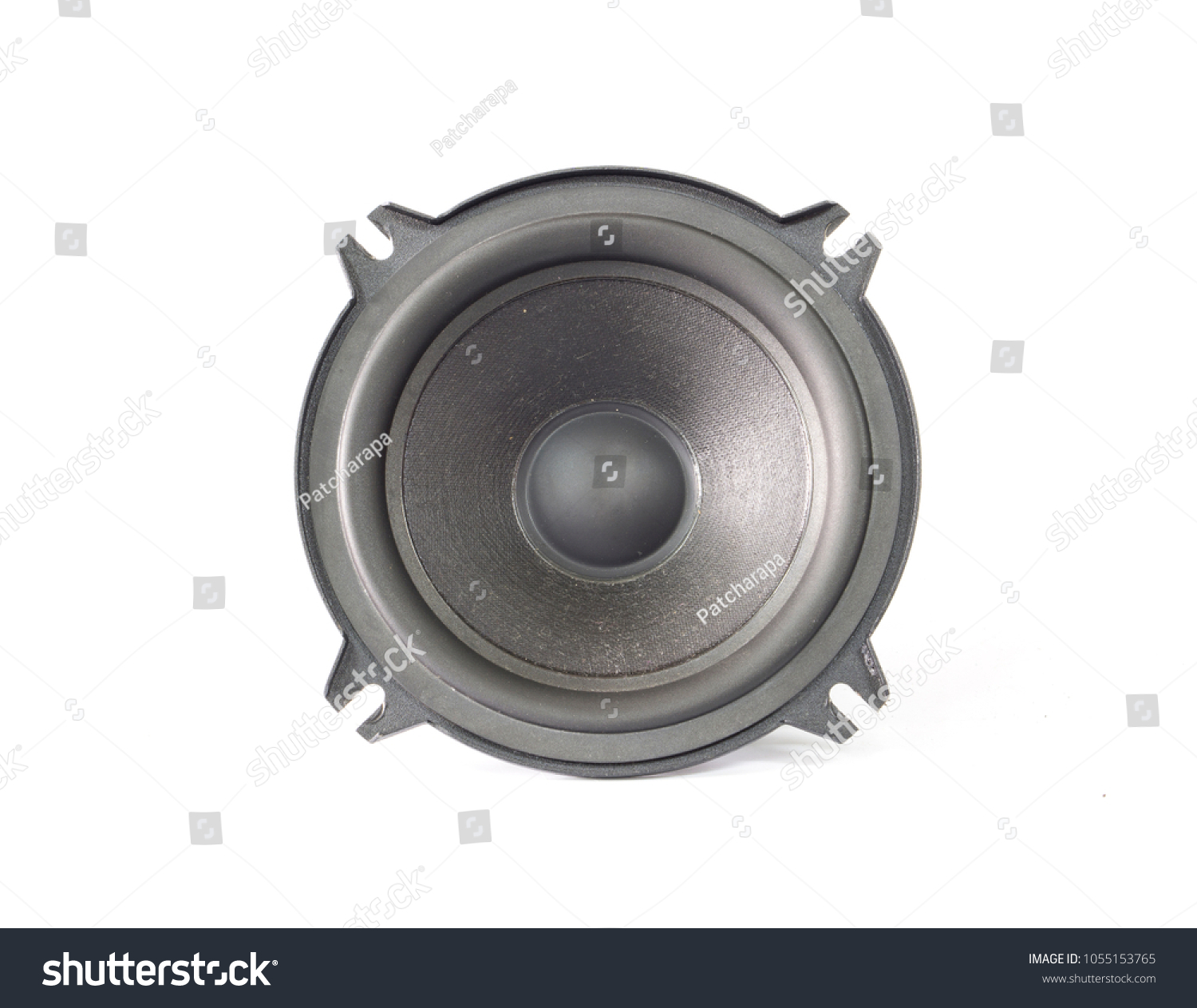 Black Old Car Audio Speaker On Stock Photo Edit Now 1055153765 White Background