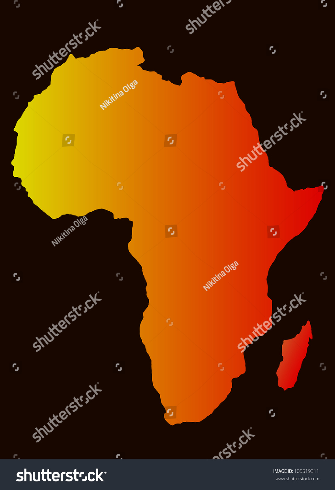 background with africa map silhouette  vector image