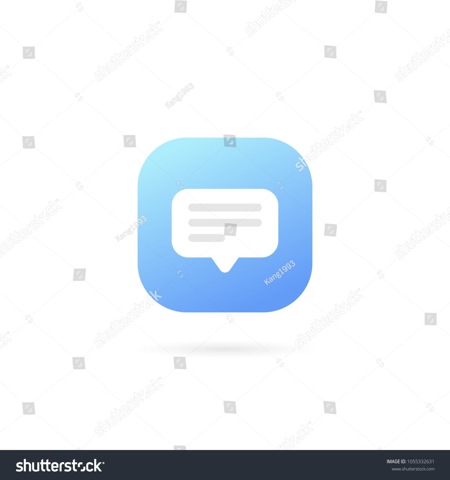 text message logo template design vector stock vector royalty free