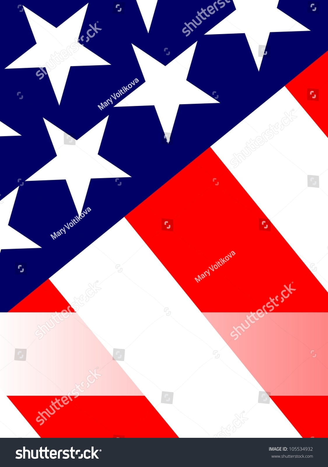 4th July Greeting Card Blank Message Stock Illustration 105534932